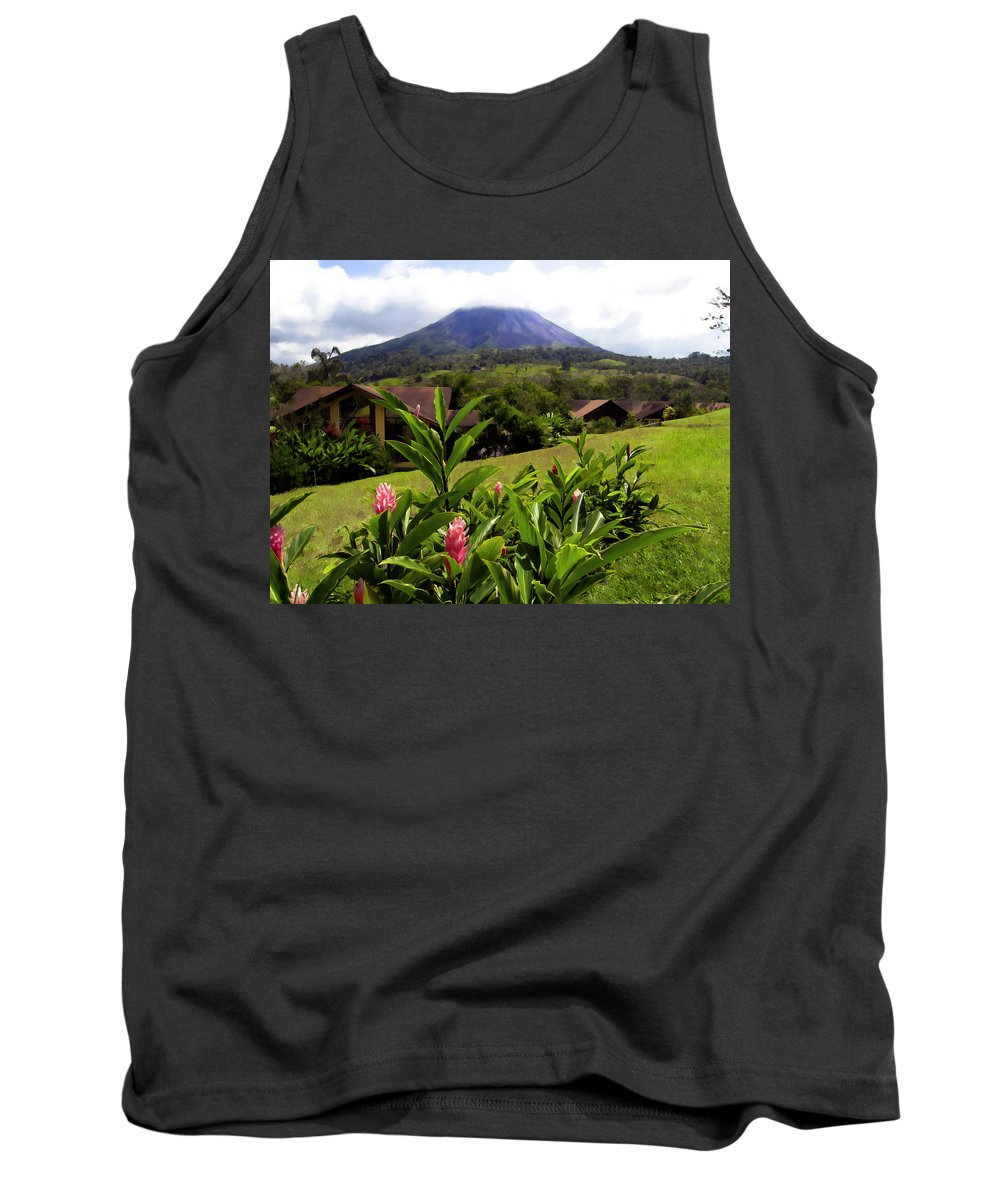 Tropical Tank Top featuring the photograph Arenal Costa Rica by Kurt Van Wagner