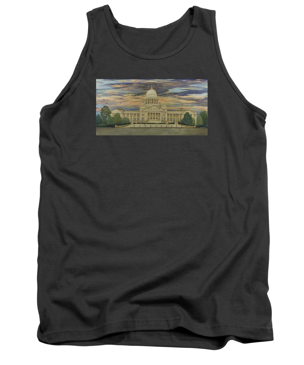 Arkansas State Capitol Paintings Tank Top featuring the painting Arkansas State Capitol by Mary Ann King