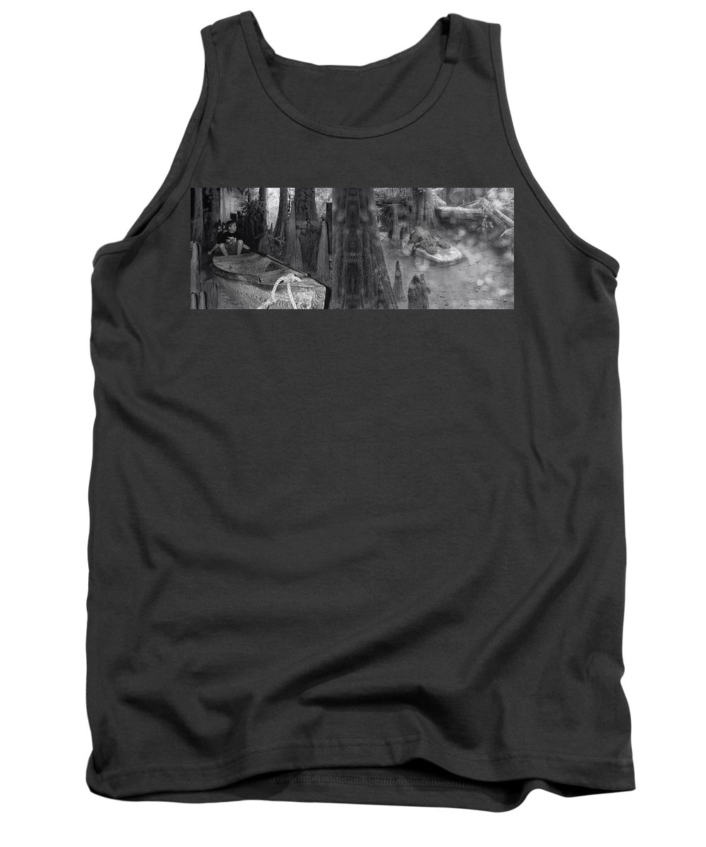 Gator Tank Top featuring the photograph Around The Next Bend Digital Art by Thomas Woolworth