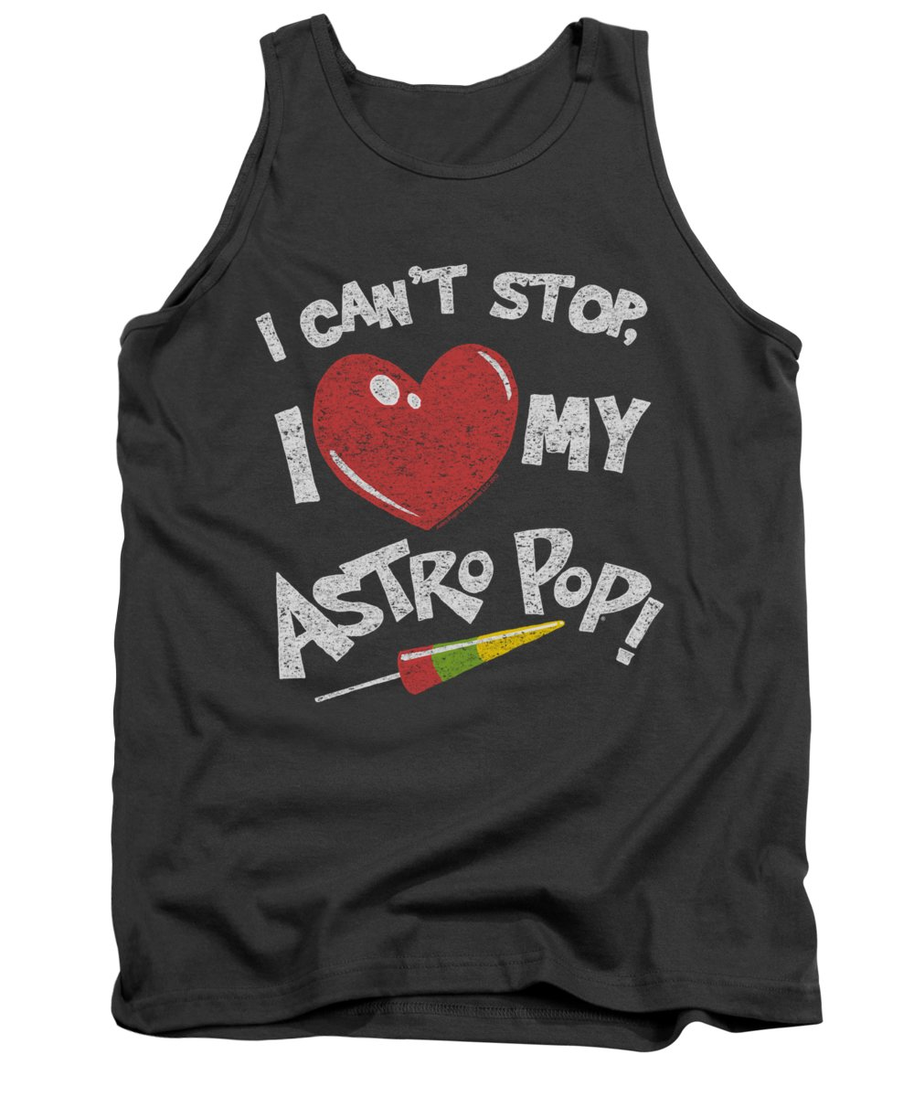 Astro Pop Tank Top featuring the digital art Astro Pop - I Heart by Brand A