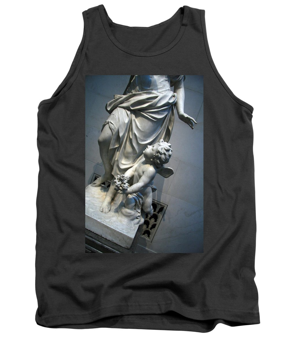 A Garden Allegory Tank Top featuring the photograph At Her Feet In A Garden Allegory by Cora Wandel