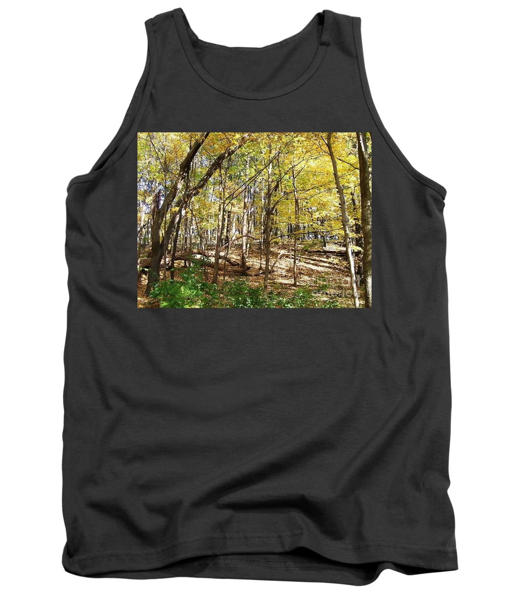 Autumn Tank Top featuring the photograph Autumn At Waterfall Glen by Laurie Eve Loftin