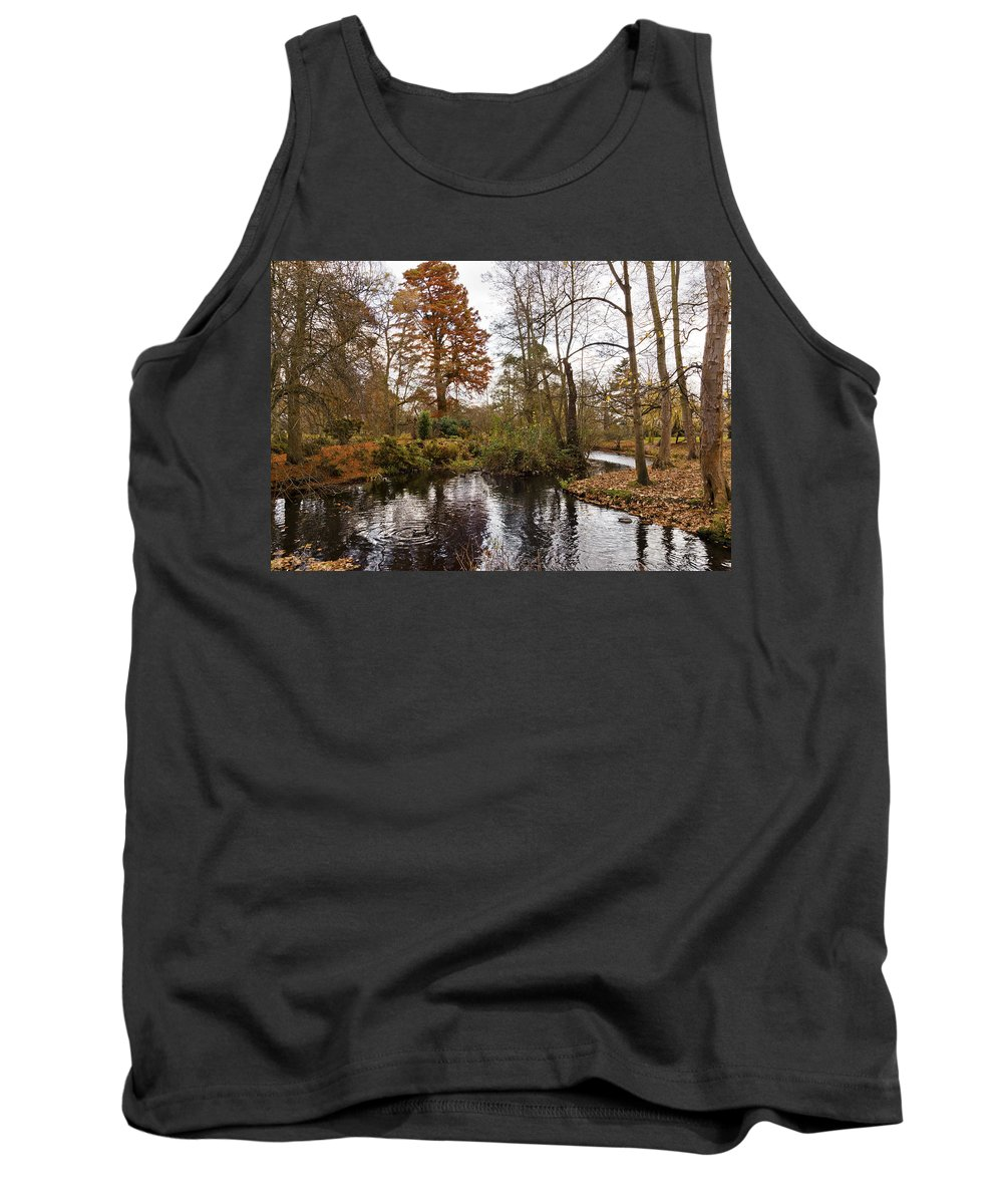 Bushy Park Tank Top featuring the photograph Autumn Colours by Maj Seda