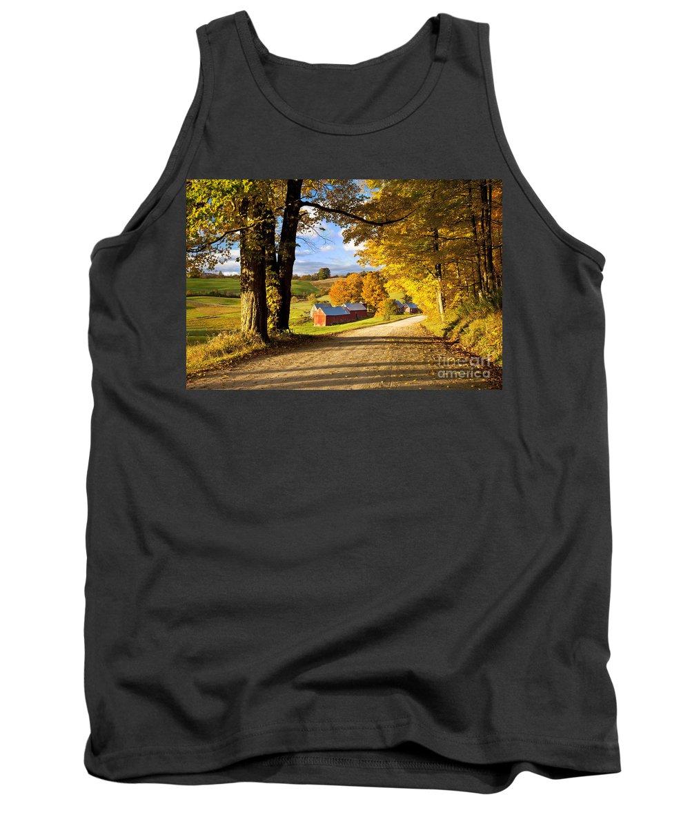 Autumn Tank Top featuring the photograph Autumn Farm In Vermont by Brian Jannsen