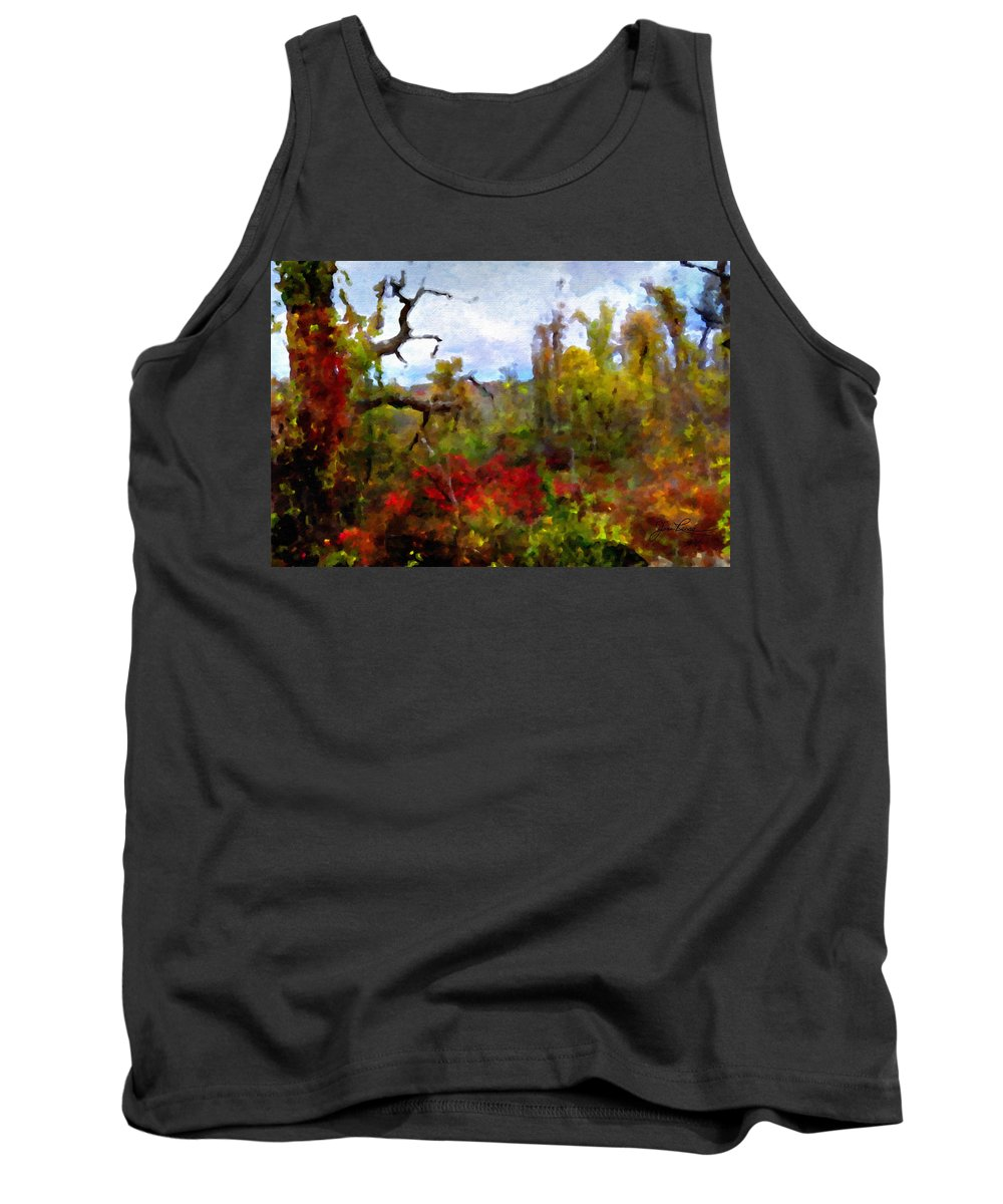 Horizon Image Tank Top featuring the photograph Autumn In New England by Joan Reese