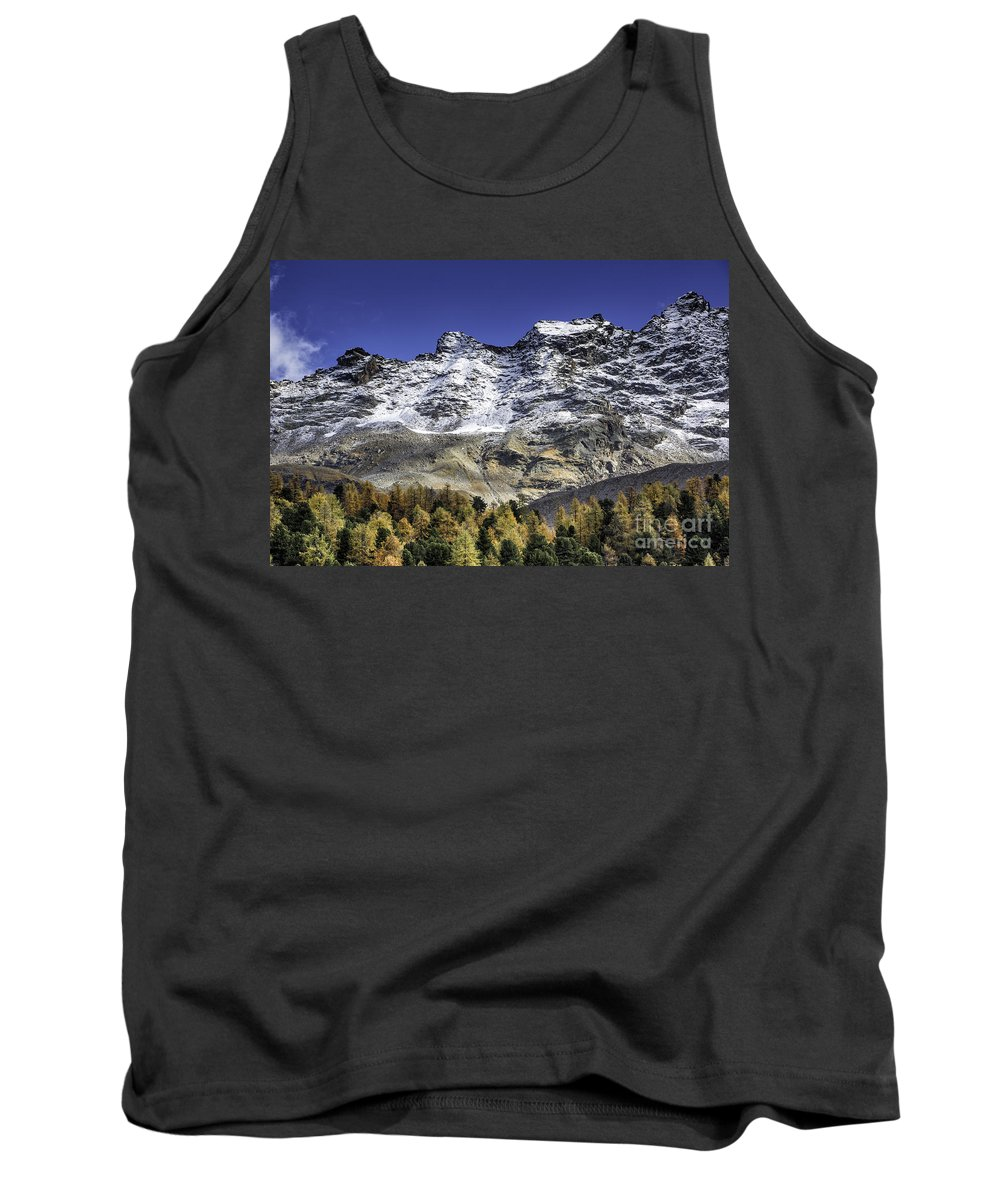 Pontresina Tank Top featuring the photograph Autumn In The Alps 1 by Timothy Hacker