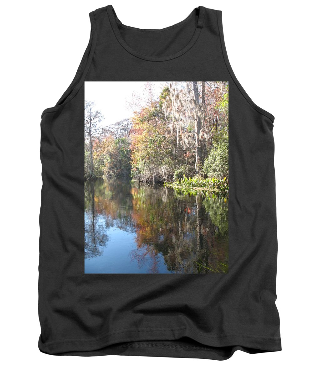 Swamp Tank Top featuring the photograph Autumn In A Swamp by Christiane Schulze Art And Photography