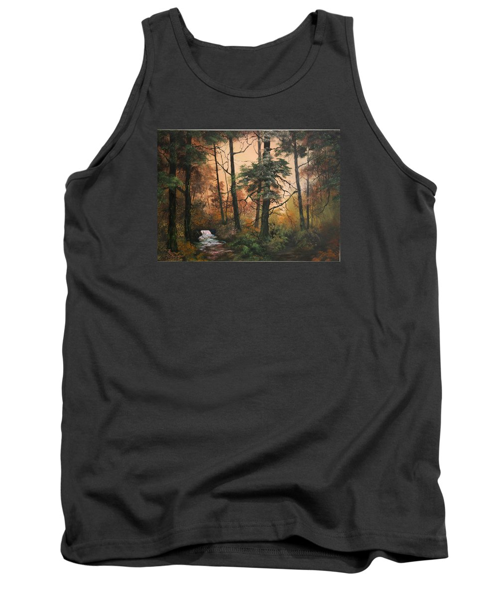 Cannock Chase Tank Top featuring the painting Autumn On Cannock Chase by Jean Walker