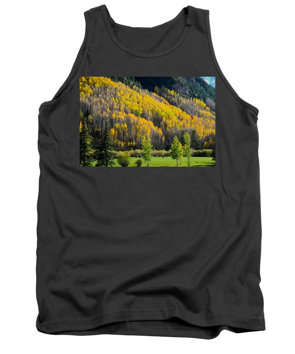Autumn Tank Top featuring the photograph Autumn On The Links by John McArthur
