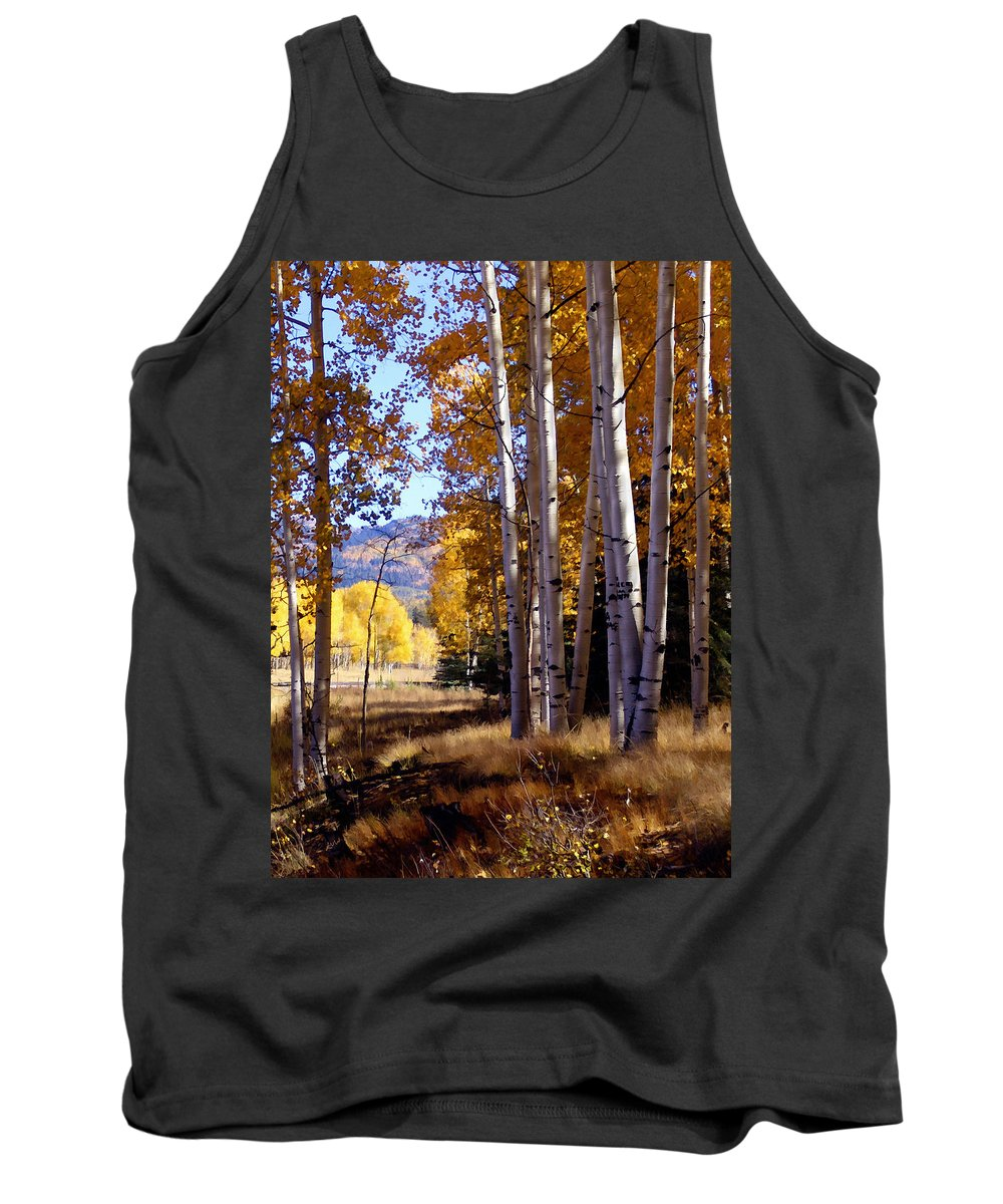 Trees Tank Top featuring the photograph Autumn Paint Chama New Mexico by Kurt Van Wagner