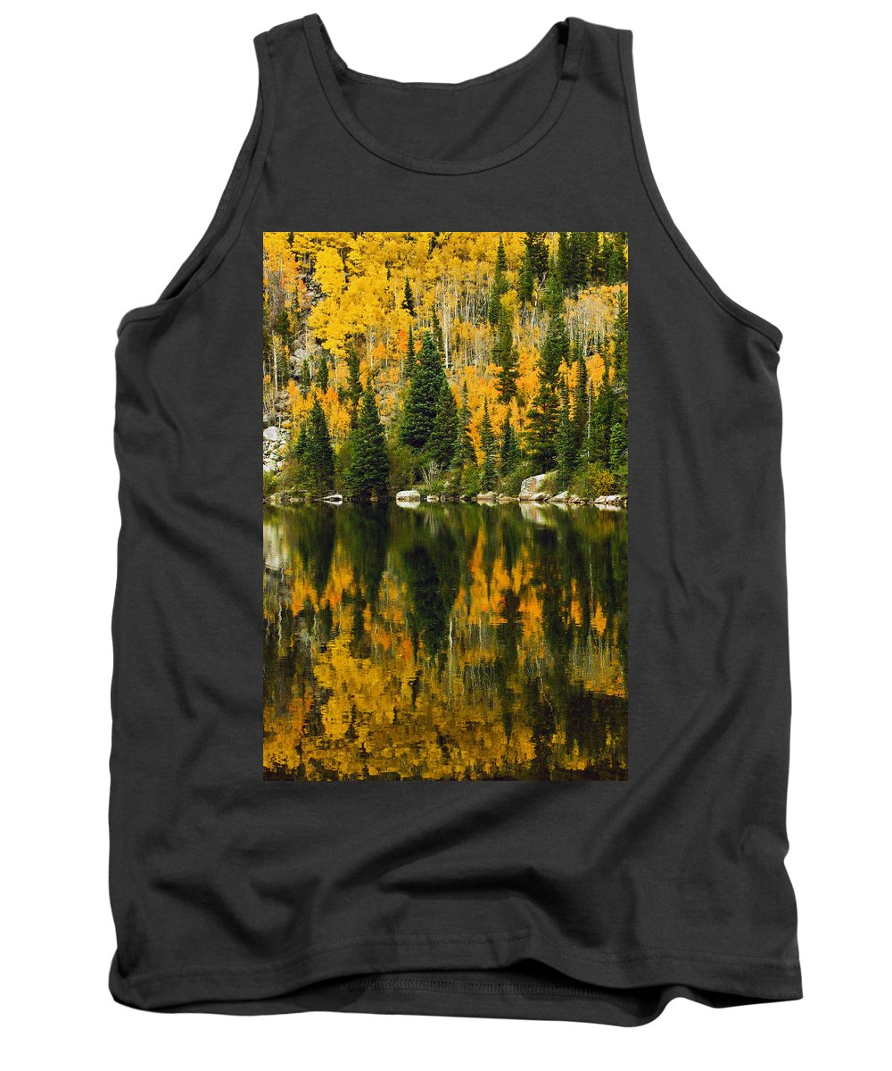 Aspens Tank Top featuring the photograph Autumn Reflections At Bear Lake by Brian Kerls