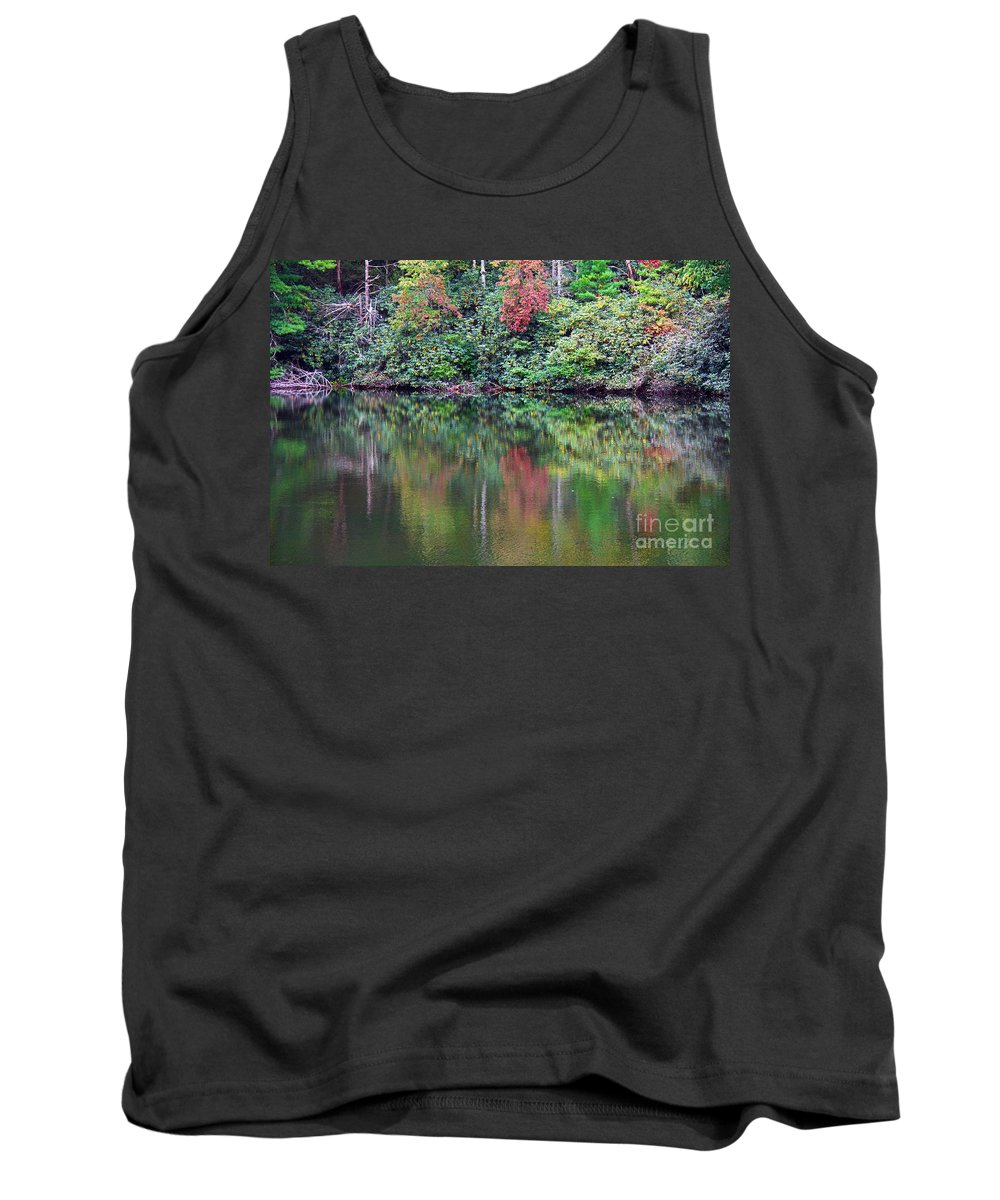 Landscape Tank Top featuring the photograph Autumn Reflections by Melissa Petrey
