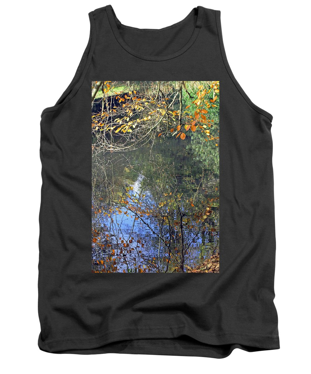 Autumn Reflections Tank Top featuring the photograph Autumn Reflections by Tony Murtagh