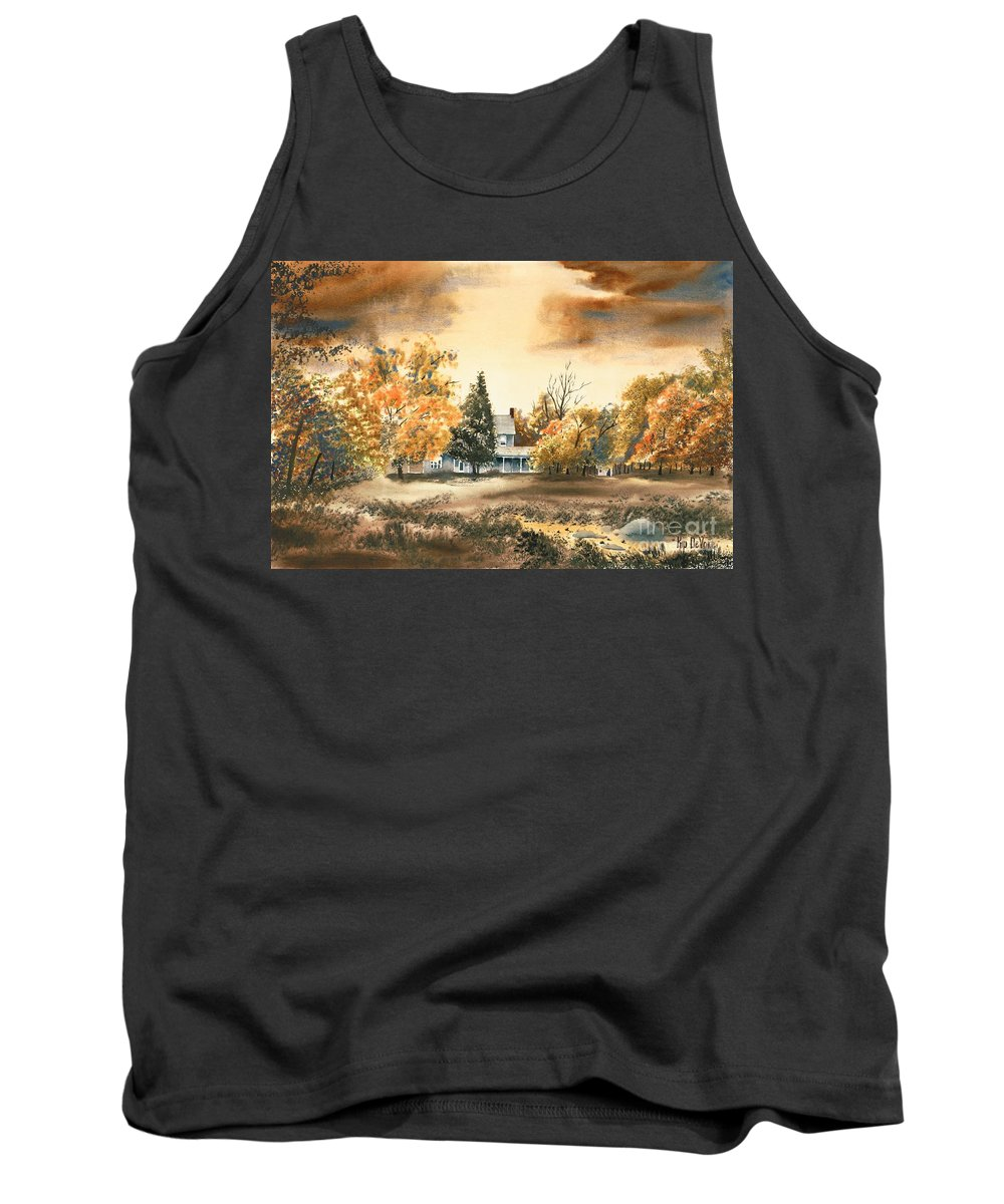 Autumn Sky No W103 Tank Top featuring the painting Autumn Sky No W103 by Kip DeVore
