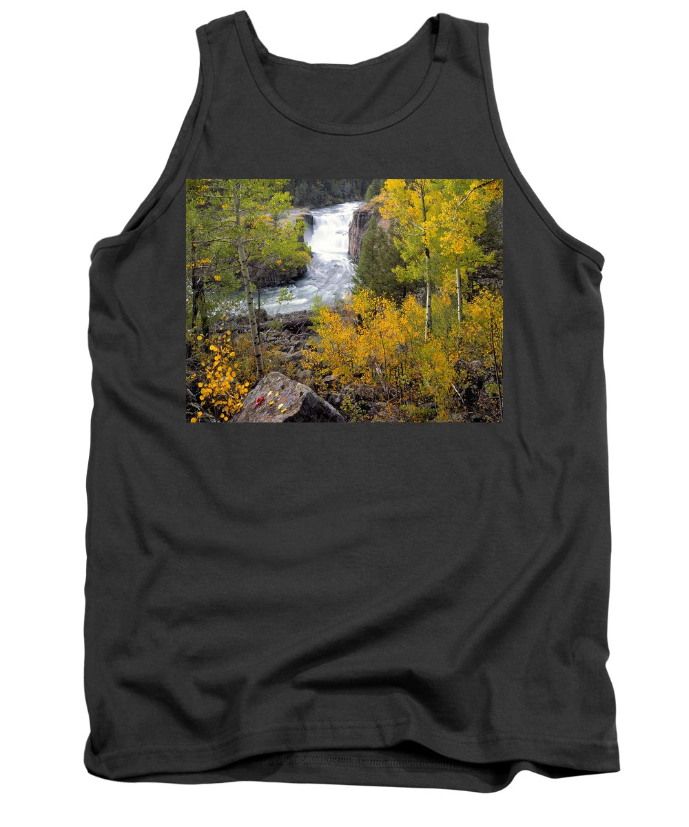 Autumn Tank Top featuring the photograph Autumn Waterfall by Leland D Howard