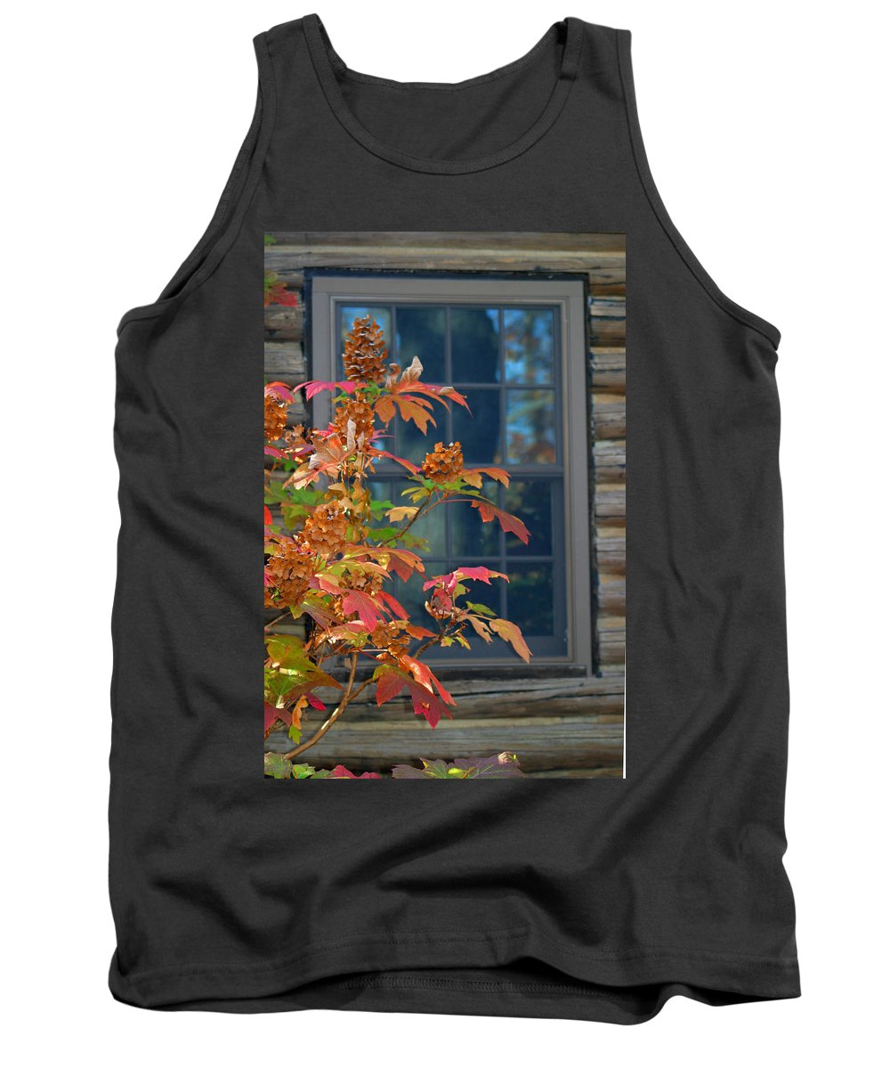 Window Tank Top featuring the photograph Autumn Window by Living Color Photography Lorraine Lynch