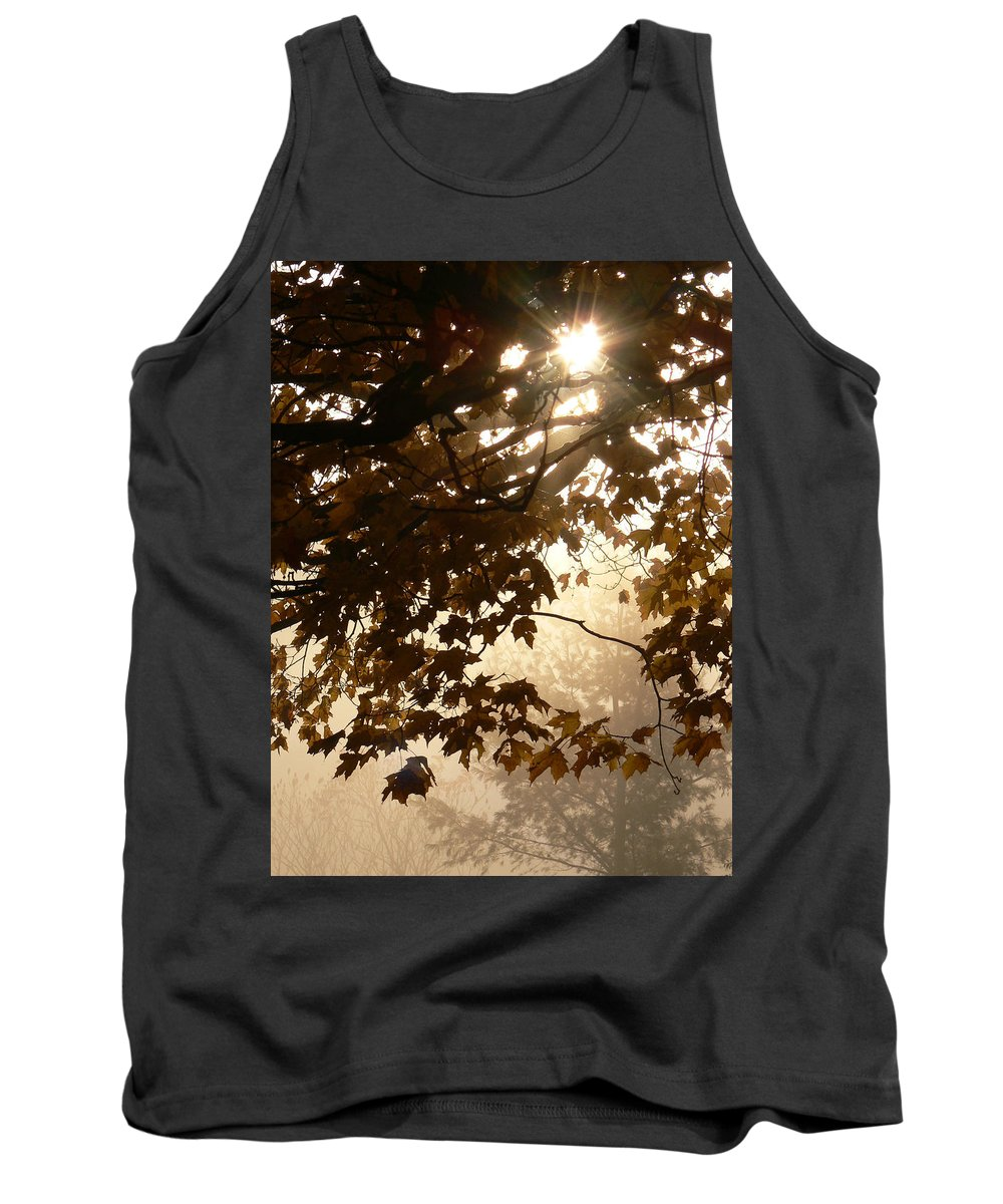 Tank Top featuring the photograph Autumns Golden Morning by Natalie LaRocque