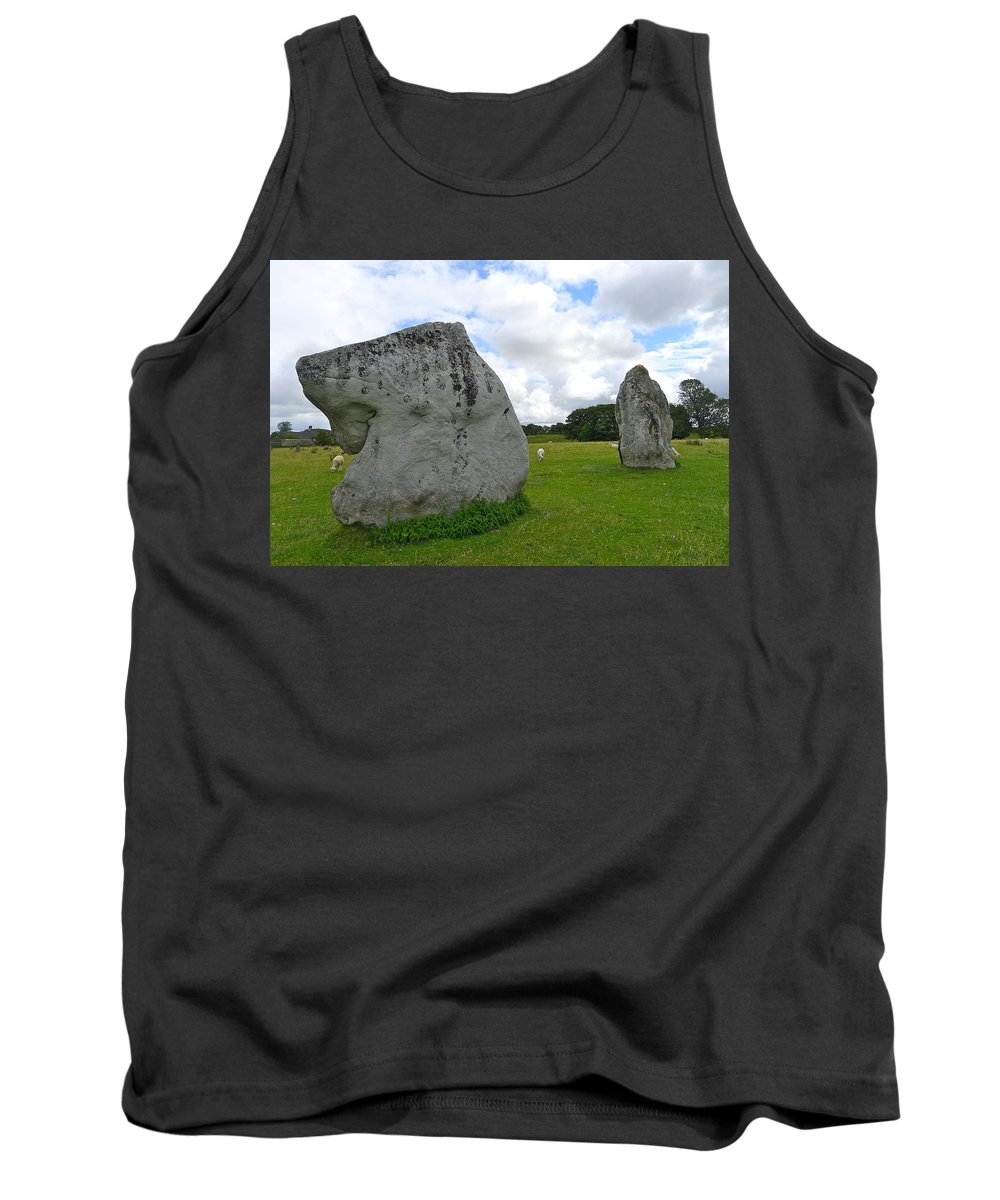 Avebury Tank Top featuring the photograph Avebury Megaliths by Denise Mazzocco