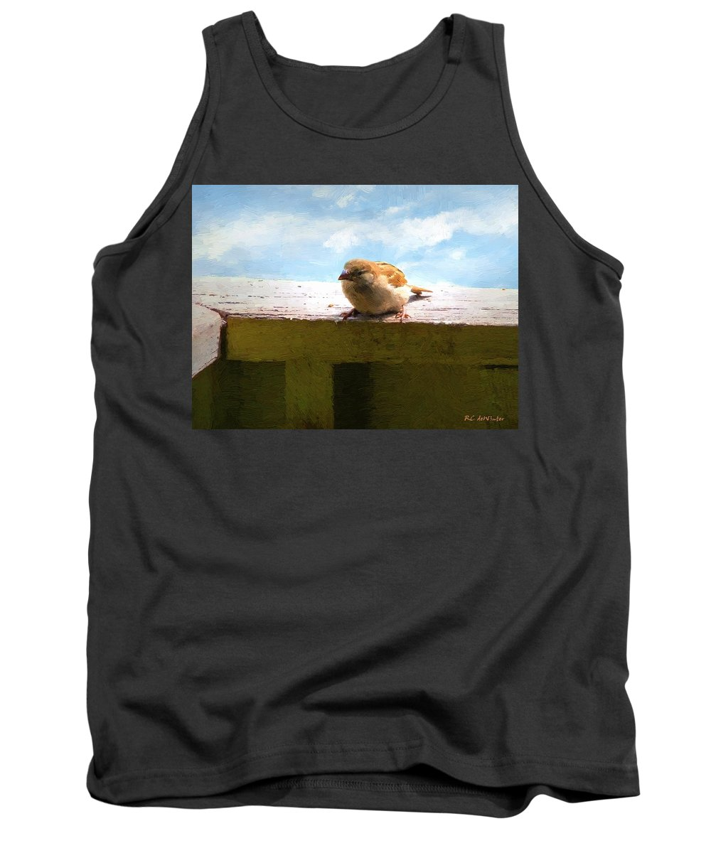Bird Tank Top featuring the painting Aw Shucks by RC DeWinter