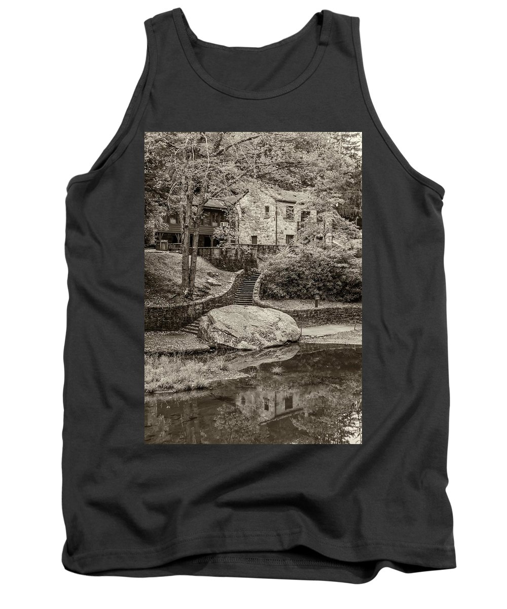 Babcock Tank Top featuring the photograph Babcock Sepia by Steve Harrington
