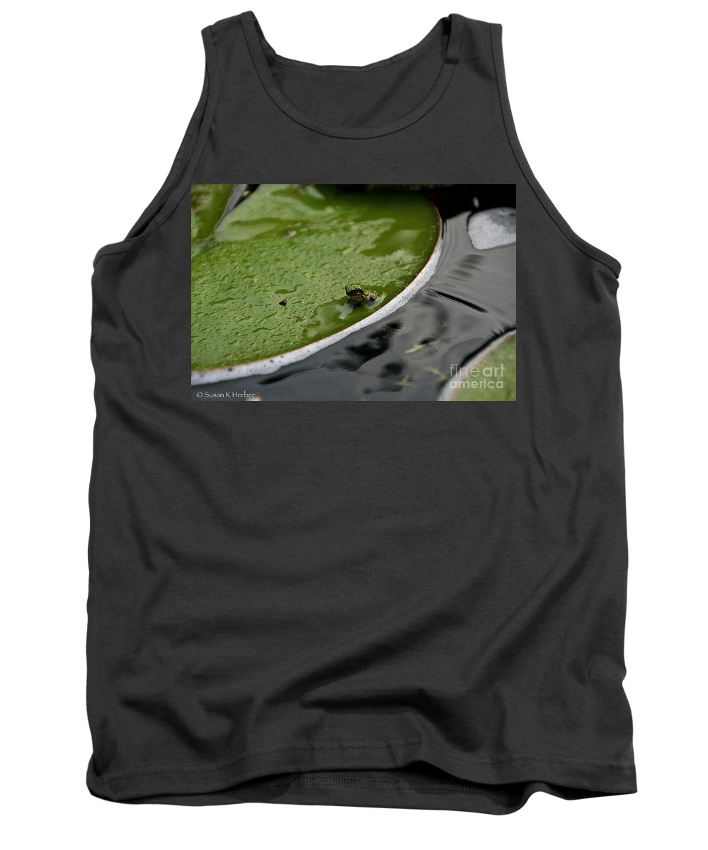 Flower Tank Top featuring the photograph Baby Amphibian by Susan Herber