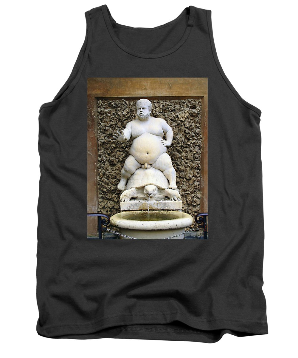 Bacchus Fountain Tank Top featuring the photograph Bacchus Fountain by Ellen Henneke