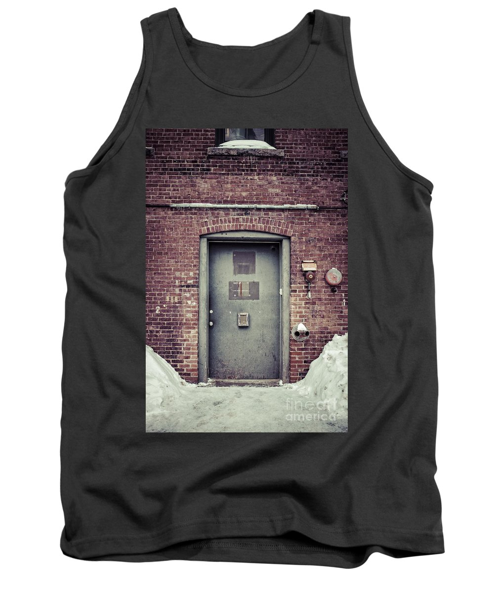 New Hampshire Tank Top featuring the photograph Back Door Alley Way by Edward Fielding