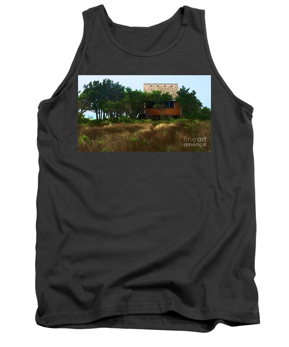 Beach Tank Top featuring the photograph Back To The Island by Debbi Granruth