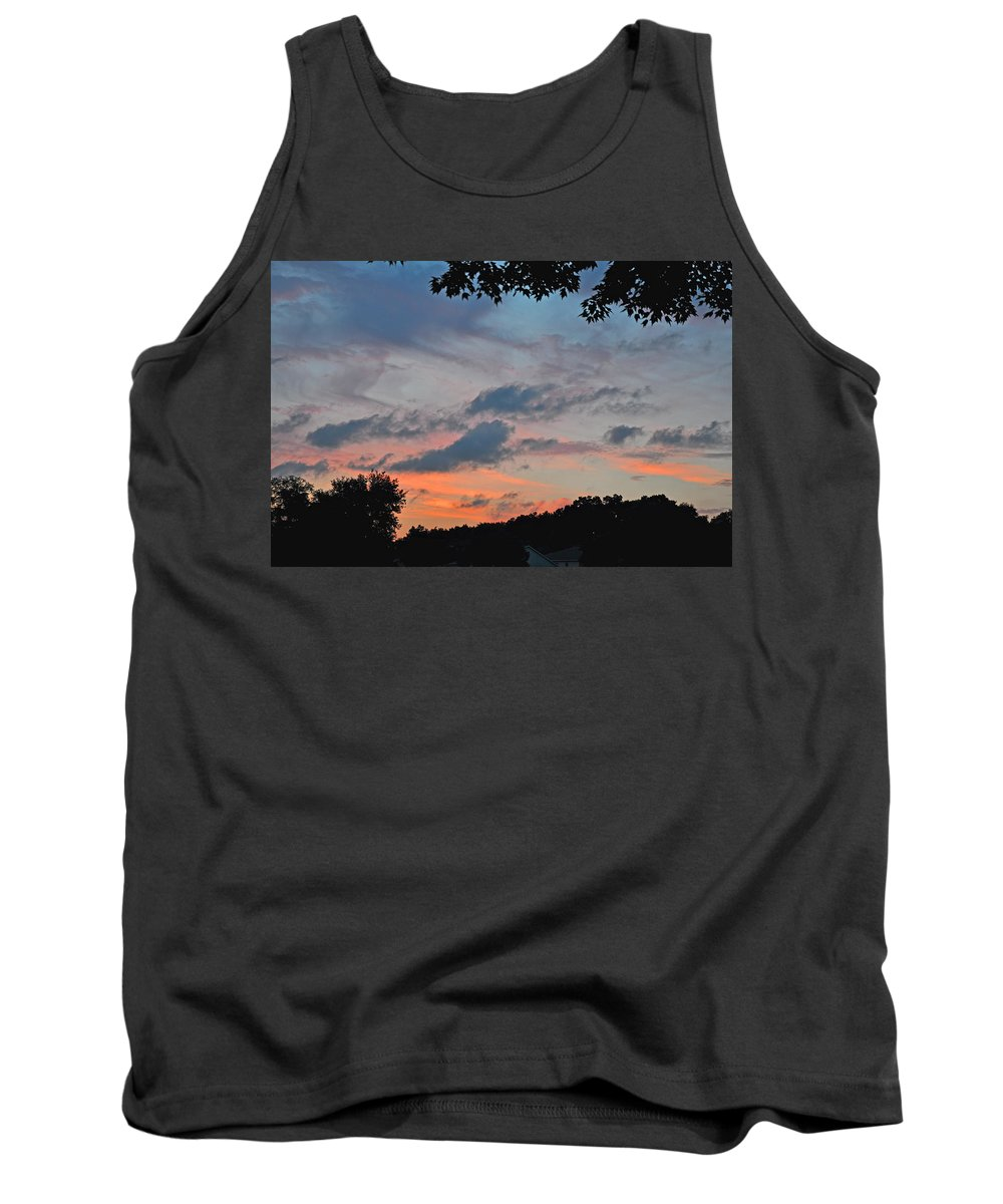 Landscapes Tank Top featuring the photograph Backyard Sunset by Deborah Good
