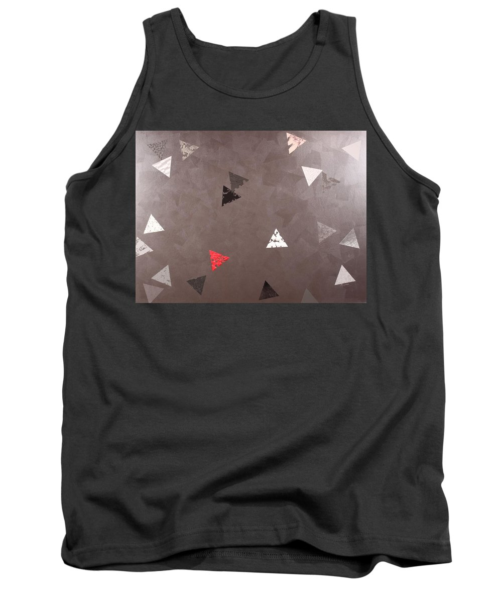 Abstract Tank Top featuring the painting Balance Of Power by David Mayeau