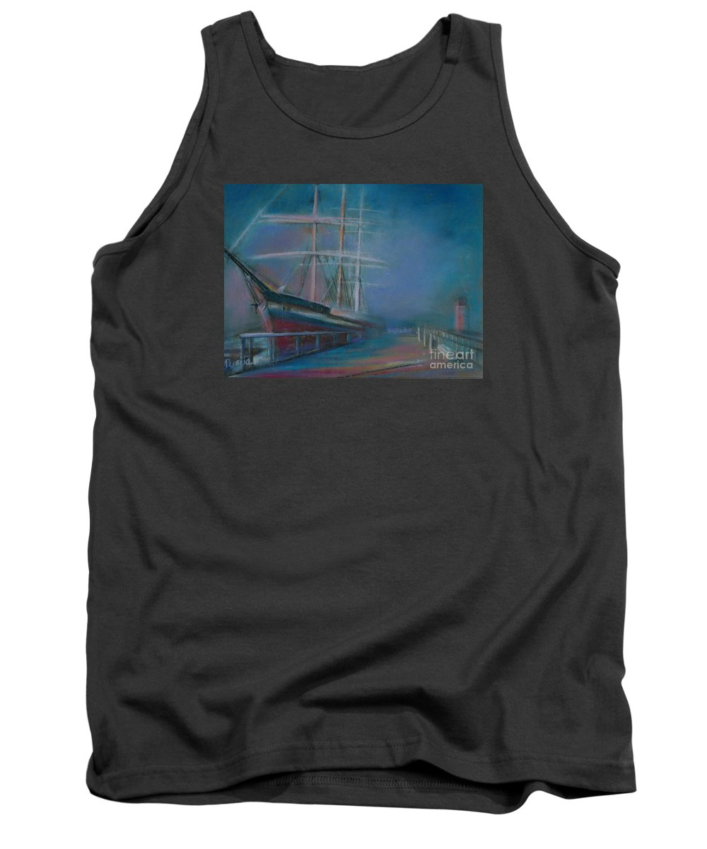 Classic Selling Ship Tank Top featuring the painting Balclutha In The Mist by Pusita Gibbs