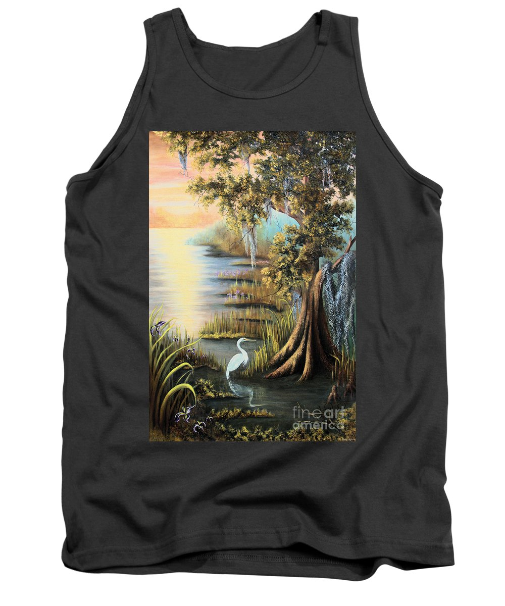 Bald Cypress Tank Top featuring the painting Bald Cypress by Karry Degruise