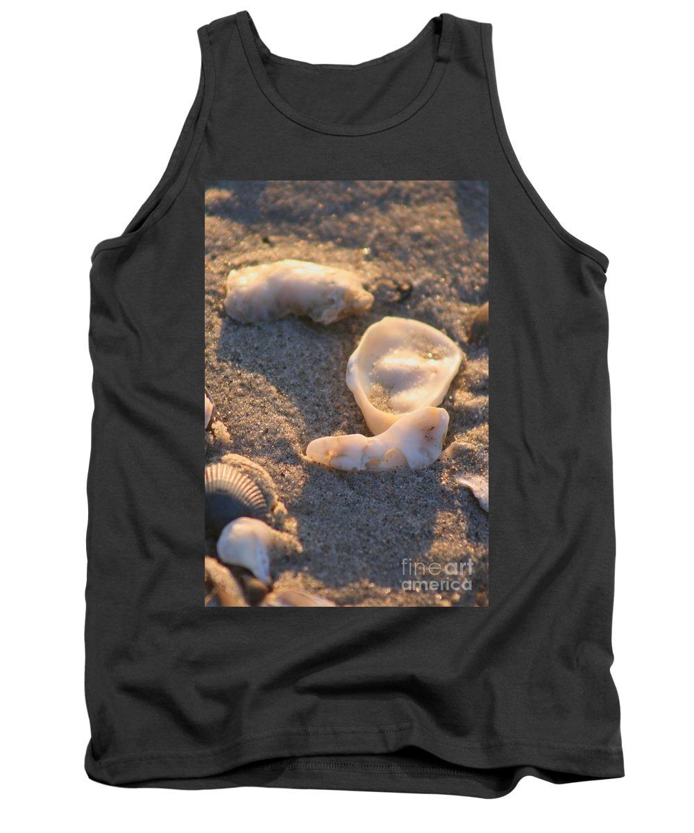 Shells Tank Top featuring the photograph Bald Head Island Shells by Nadine Rippelmeyer