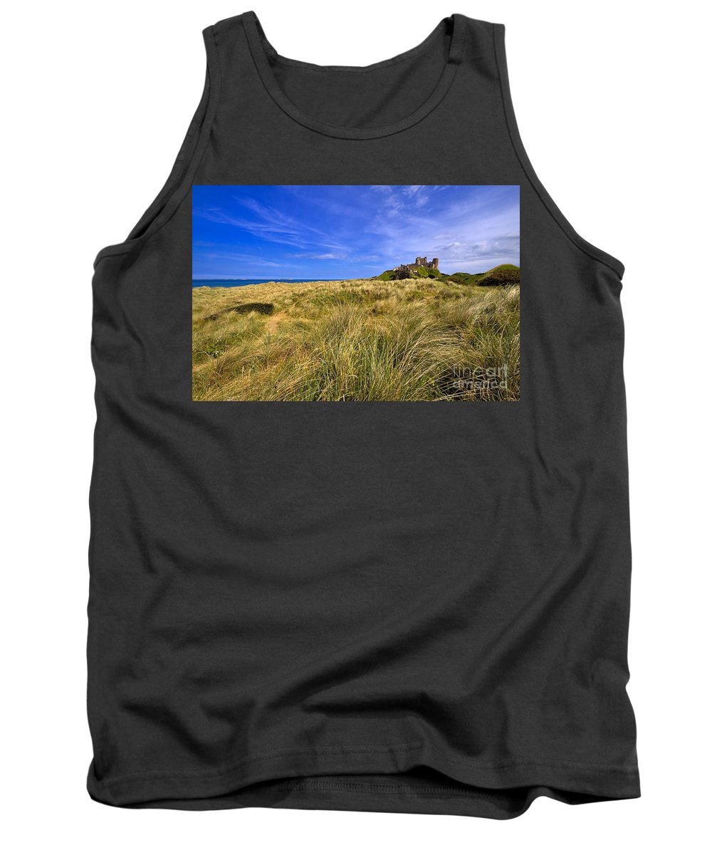 Travel Tank Top featuring the photograph Bamburgh Castle by Louise Heusinkveld