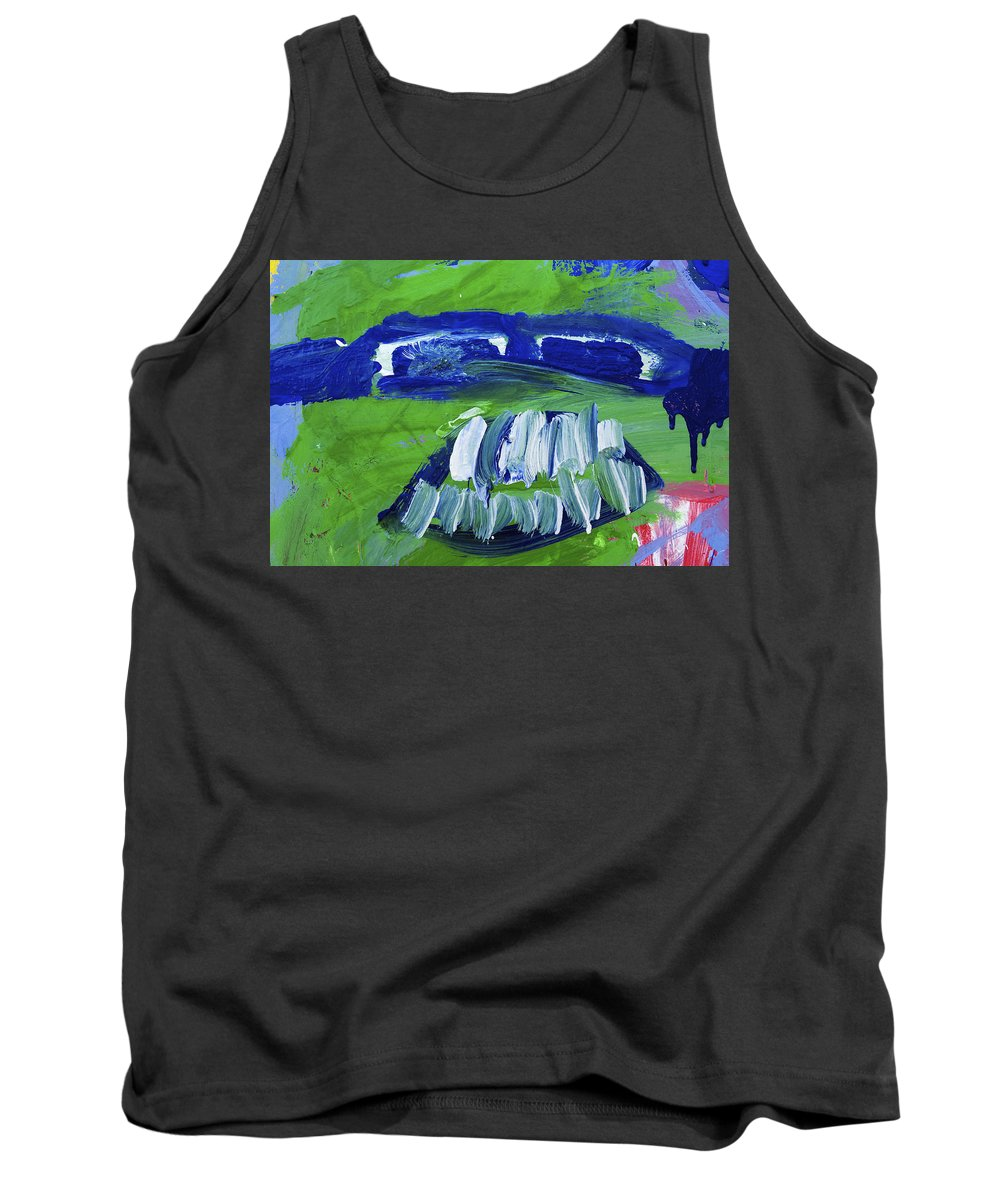 Water Paints Tank Top featuring the photograph Bandit Teeth by Richard J Cassato