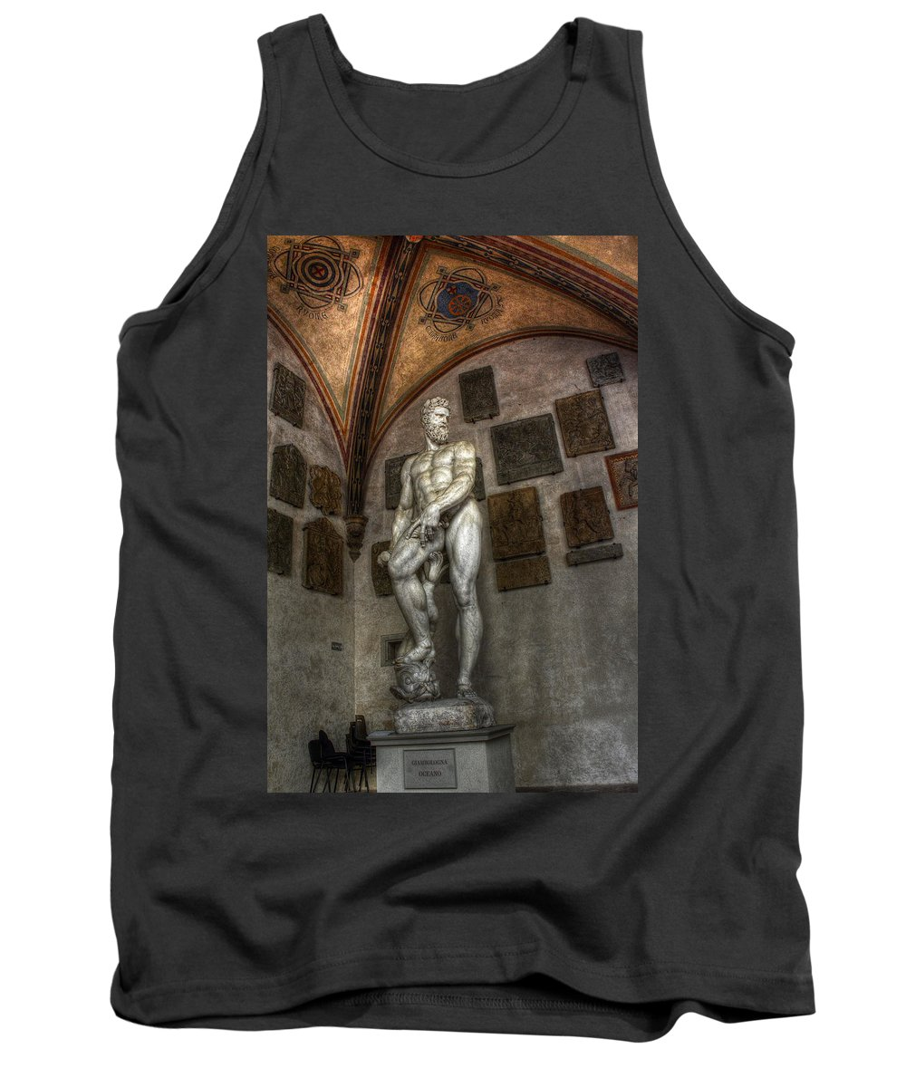 Sculpture Tank Top featuring the photograph Giambologna's Oceano by Michael Kirk