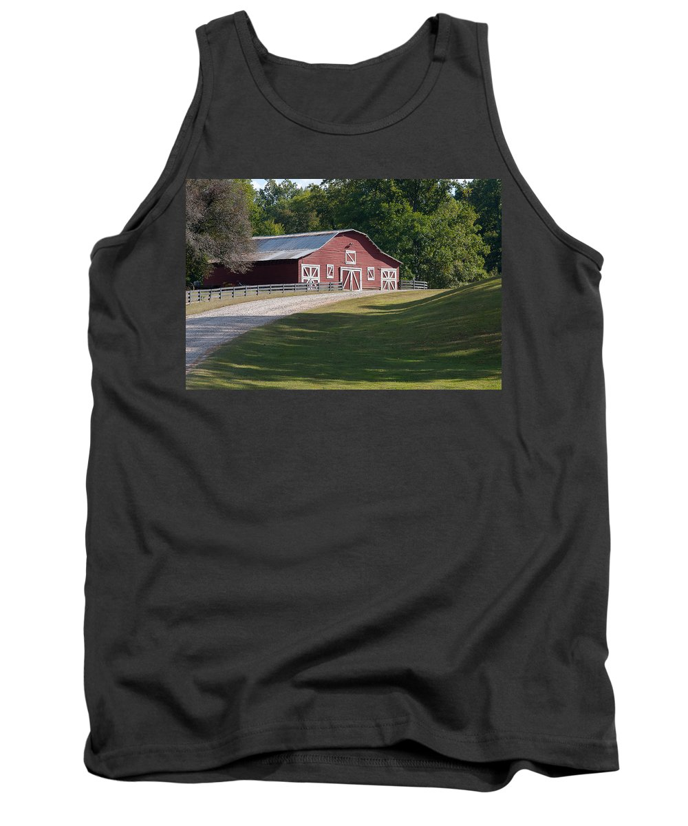 Yonah Mountain Tank Top featuring the photograph Barn At Yonah Mountain 002 by Spencer Studios