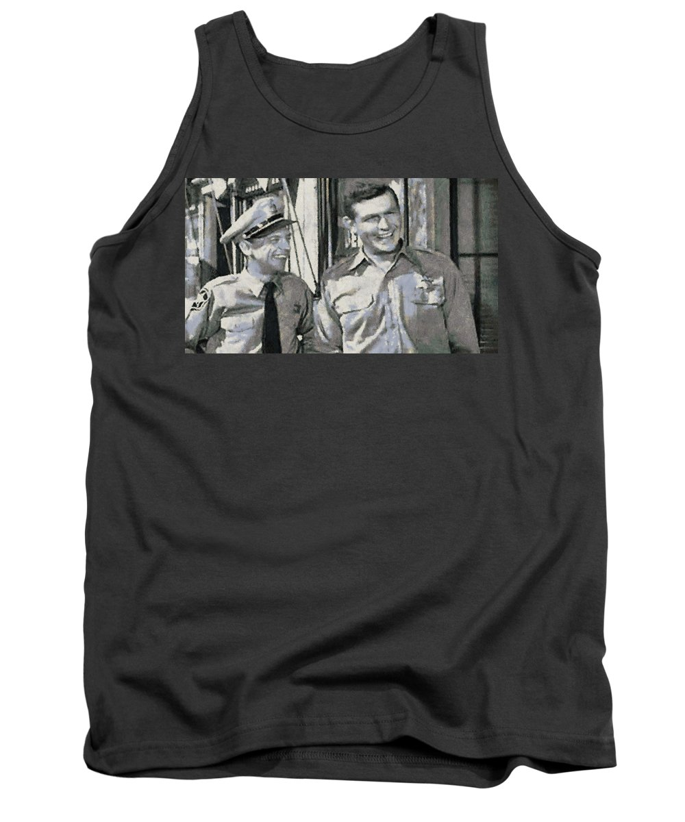 Barney Tank Top featuring the photograph Barney Fife And Andy Taylor by Paulette B Wright