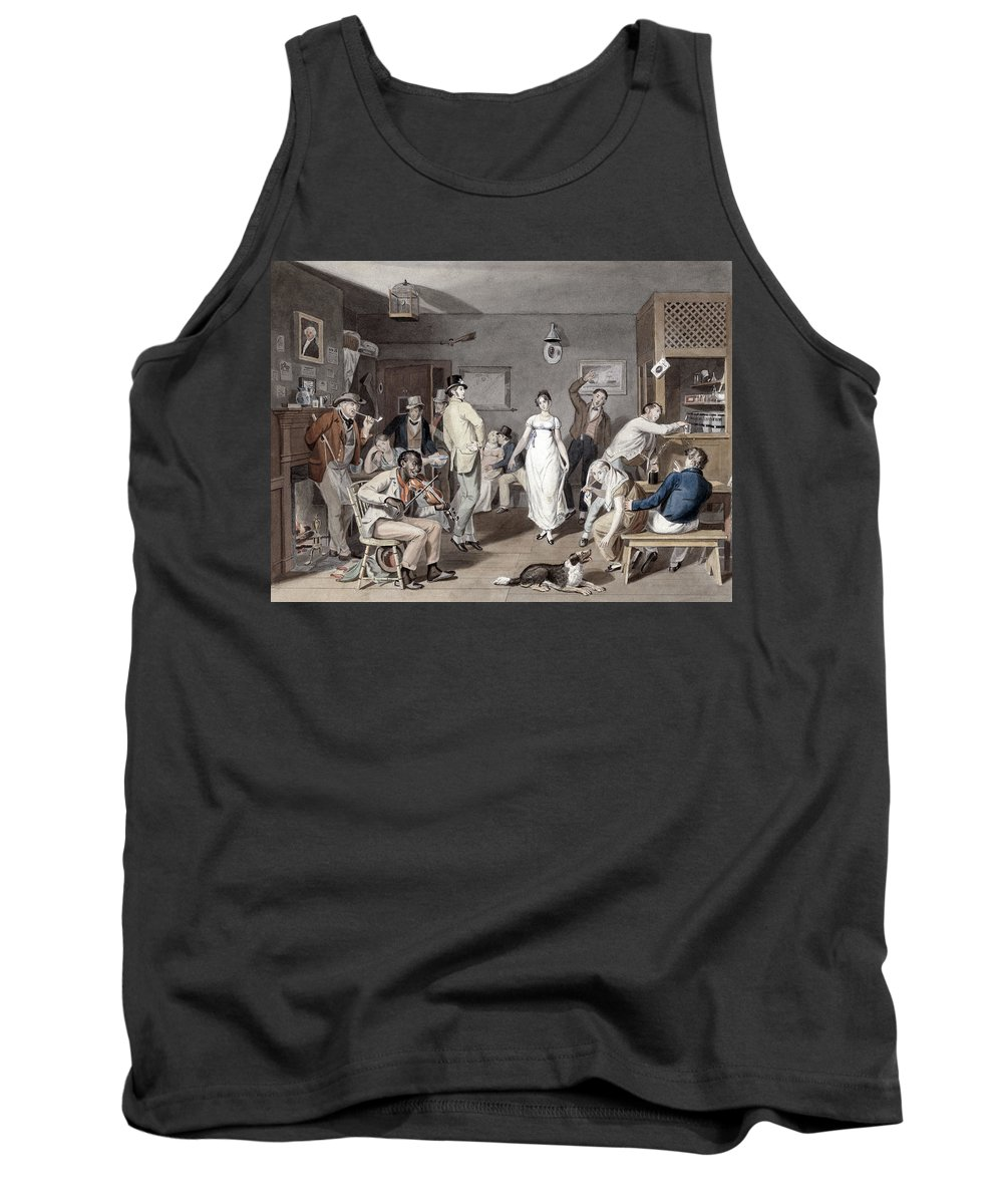 1820 Tank Top featuring the painting Barroom Dancing, C1820 by Granger
