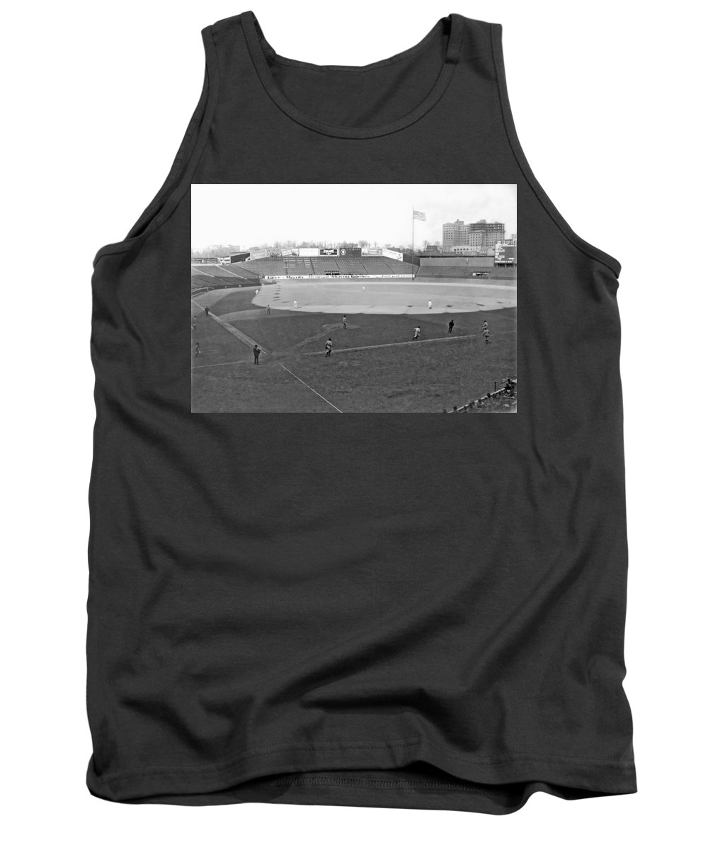 1924 Tank Top featuring the photograph Baseball At Yankee Stadium by Underwood Archives