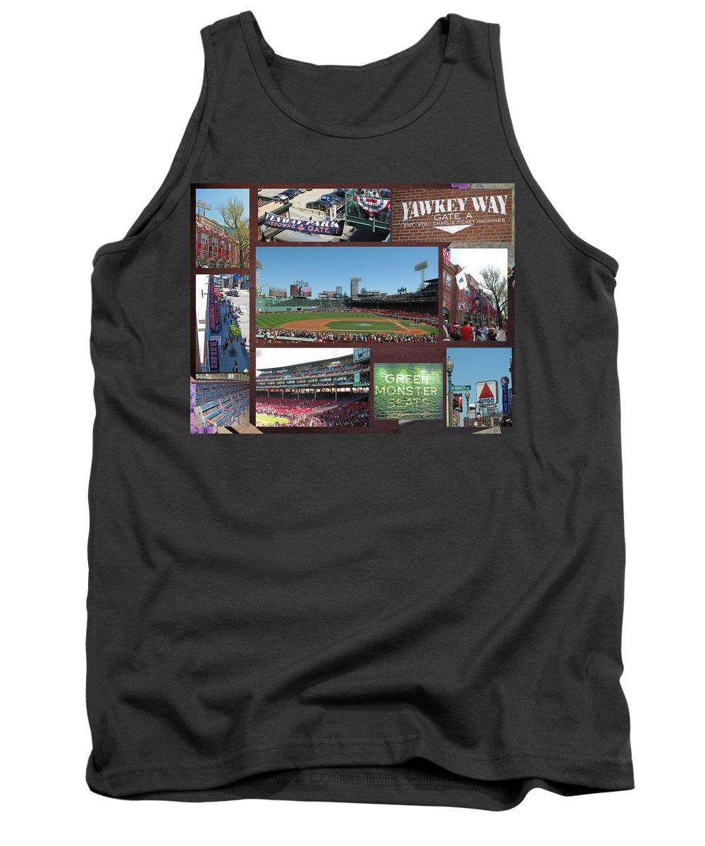 Fenway Tank Top featuring the photograph Baseball Collage by Barbara McDevitt
