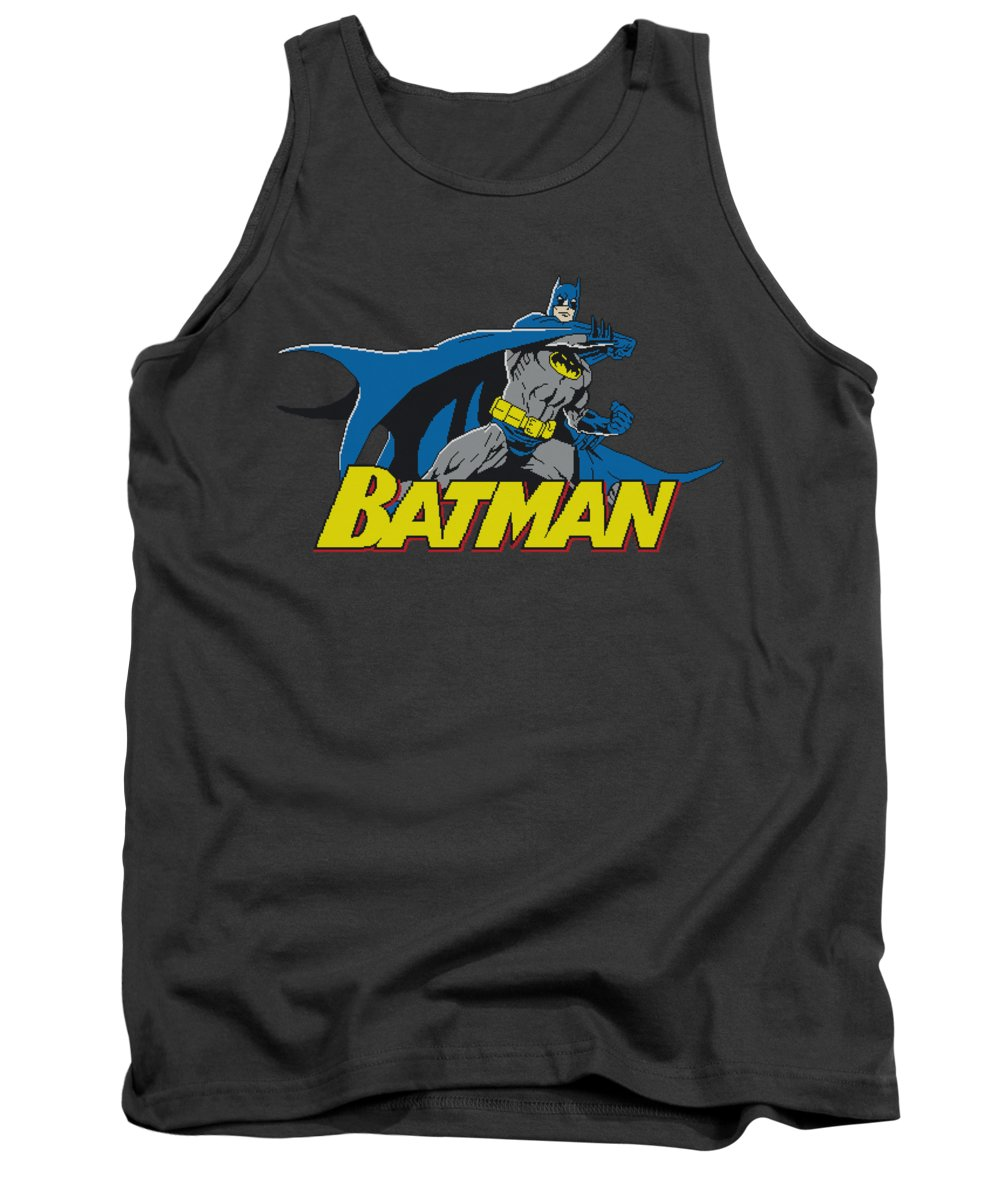Batman Tank Top featuring the digital art Batman - 8 Bit Cape by Brand A