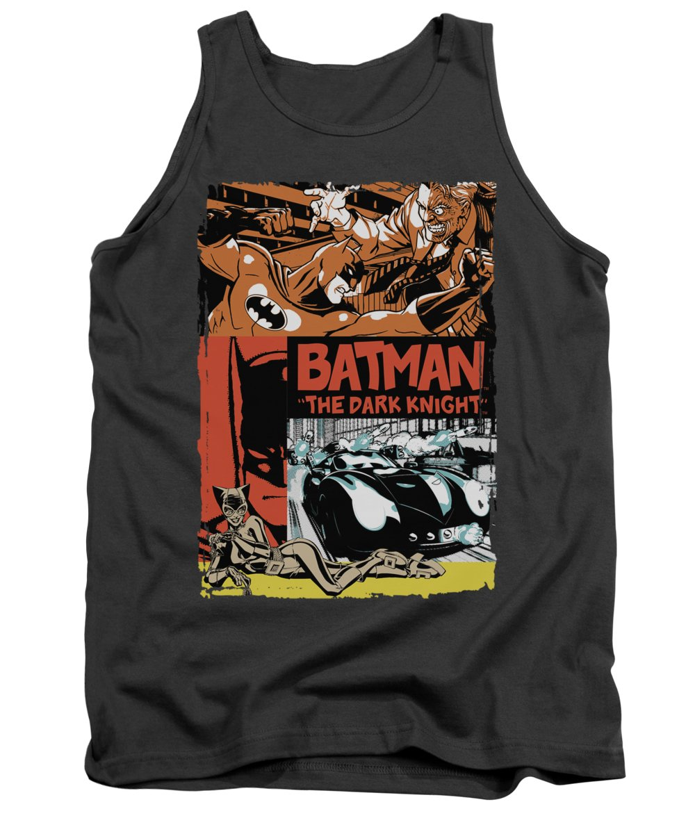 Batman Tank Top featuring the digital art Batman - Old Movie Poster by Brand A
