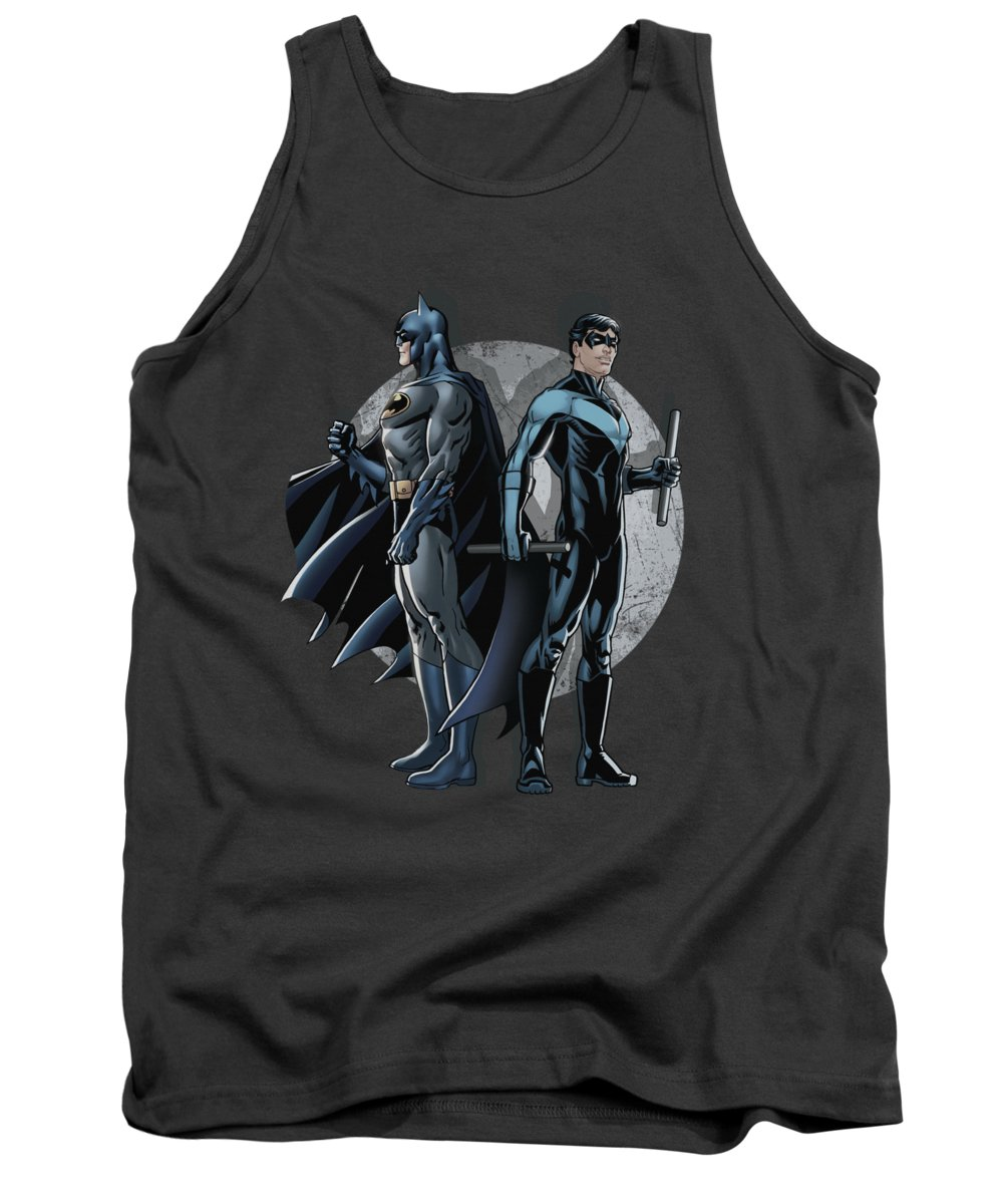 Batman Tank Top featuring the digital art Batman - Spotlight by Brand A