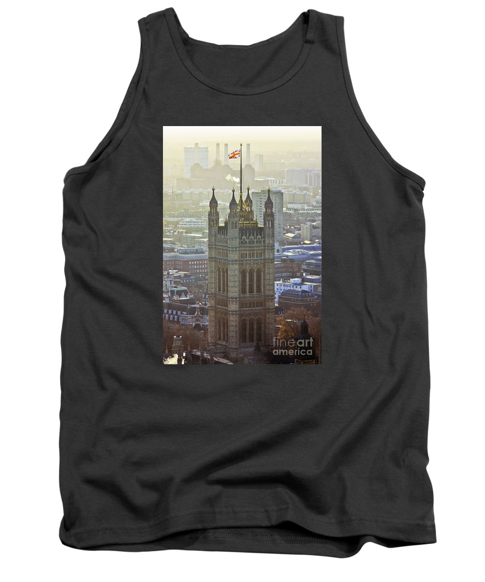 London Tank Top featuring the photograph Battersea Power Station And Victoria Tower London by Terri Waters