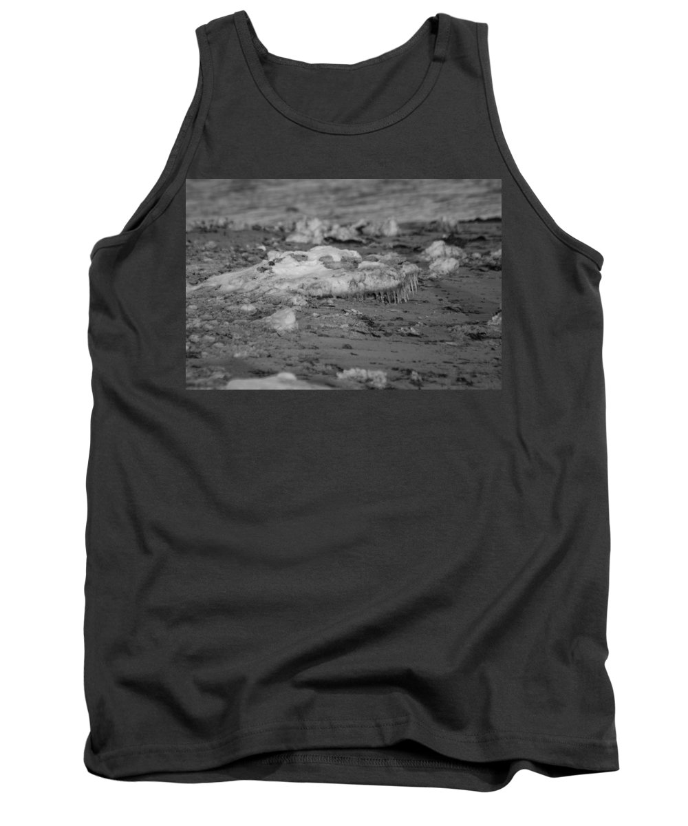 Cape Cod Tank Top featuring the photograph Beach With Ice Formations by Allan Morrison