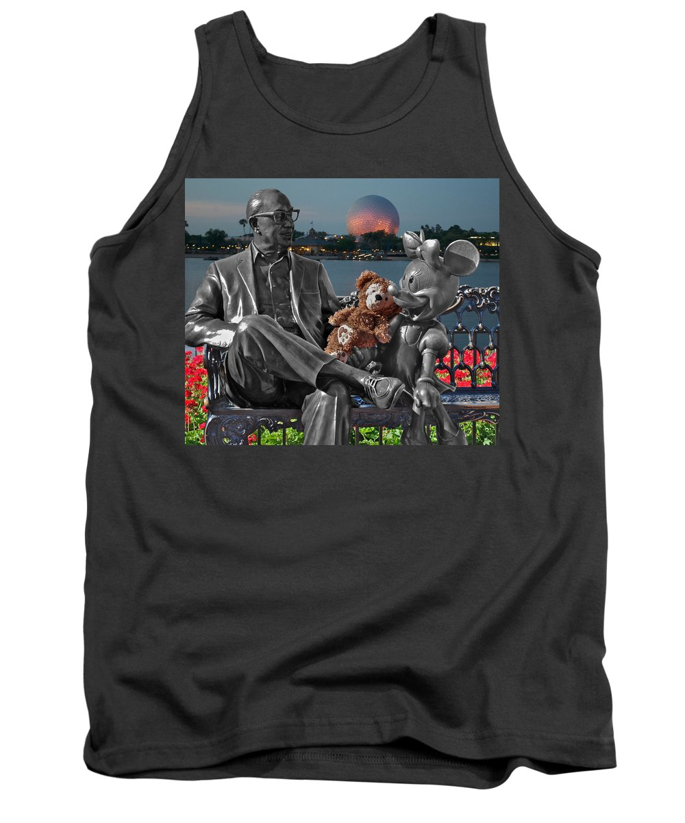 Fantasy Tank Top featuring the photograph Bear And His Mentors Walt Disney World 05 by Thomas Woolworth