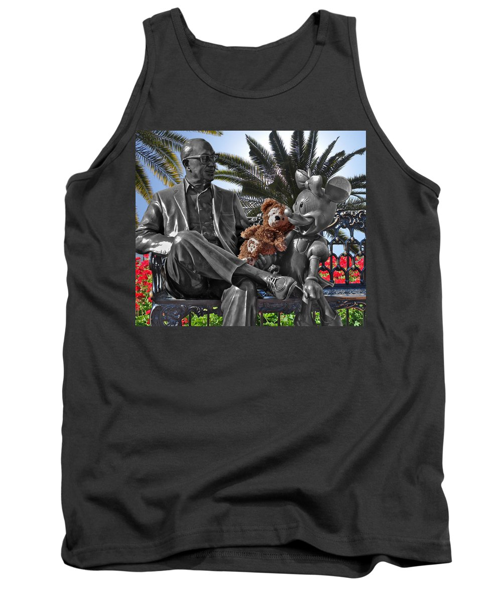Fantasy Tank Top featuring the photograph Bear And His Mentors Walt Disney World 06 by Thomas Woolworth