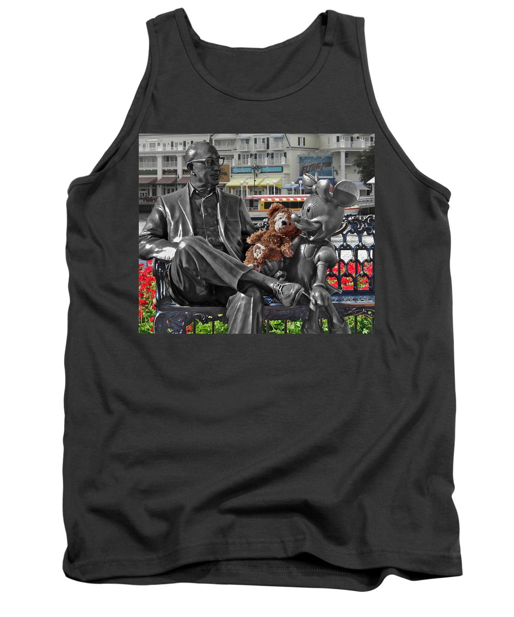 Fantasy Tank Top featuring the photograph Bear And His Mentors Walt Disney World 07 by Thomas Woolworth