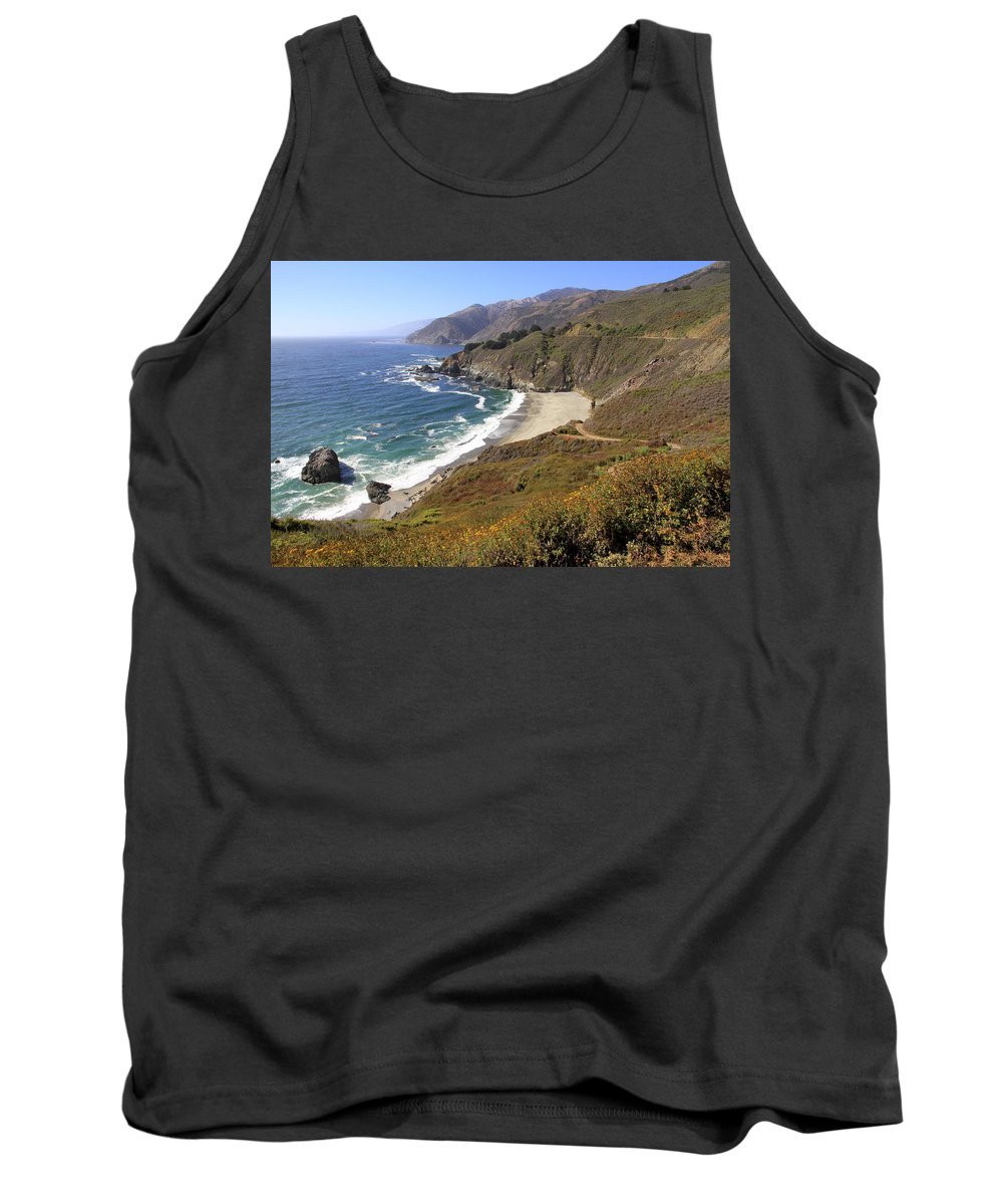 Landscape Tank Top featuring the photograph Beautiful Big Sur Coastline by Christiane Schulze Art And Photography